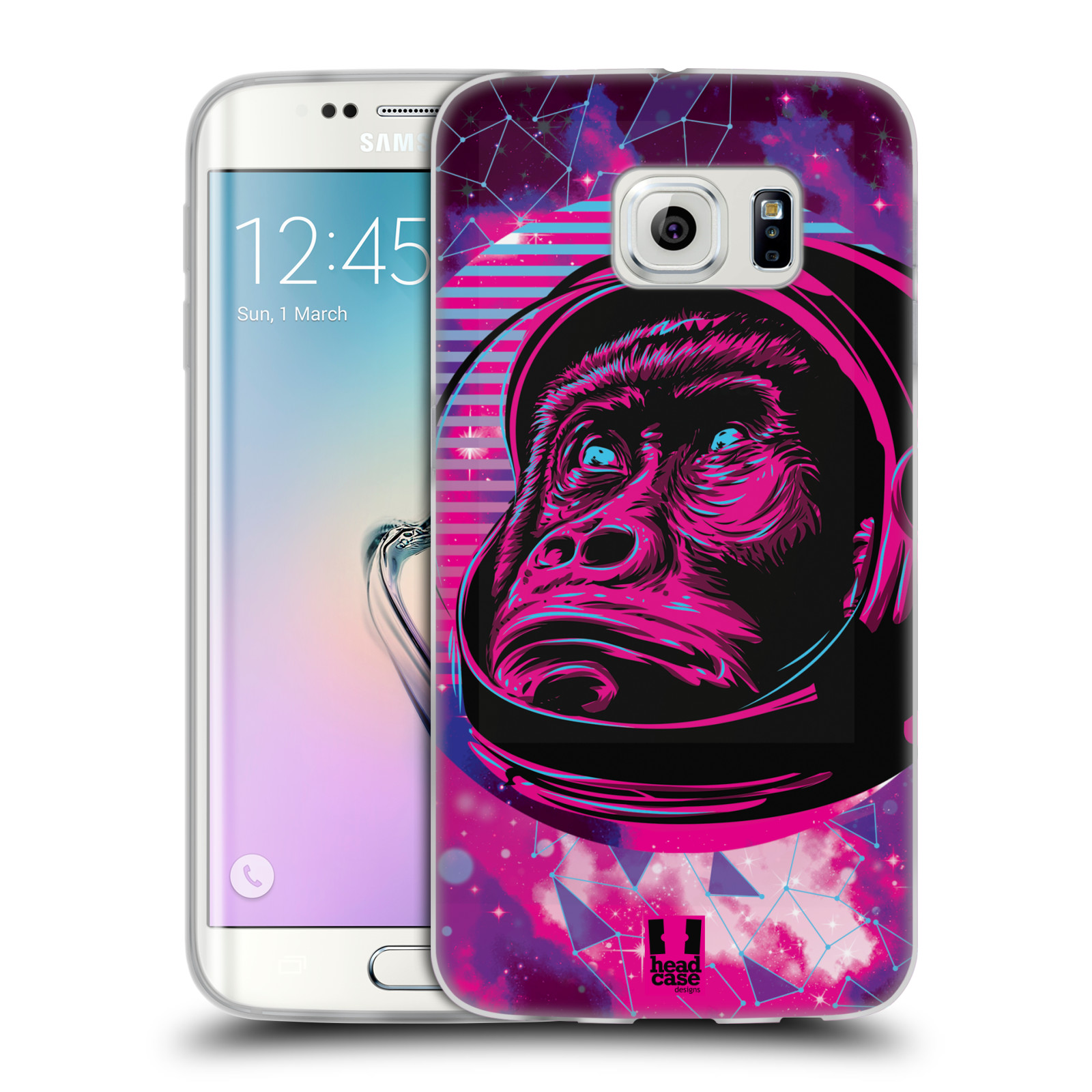 Silikonové pouzdro na mobil Samsung Galaxy S6 Edge Head Case - Gorila ve skafandru