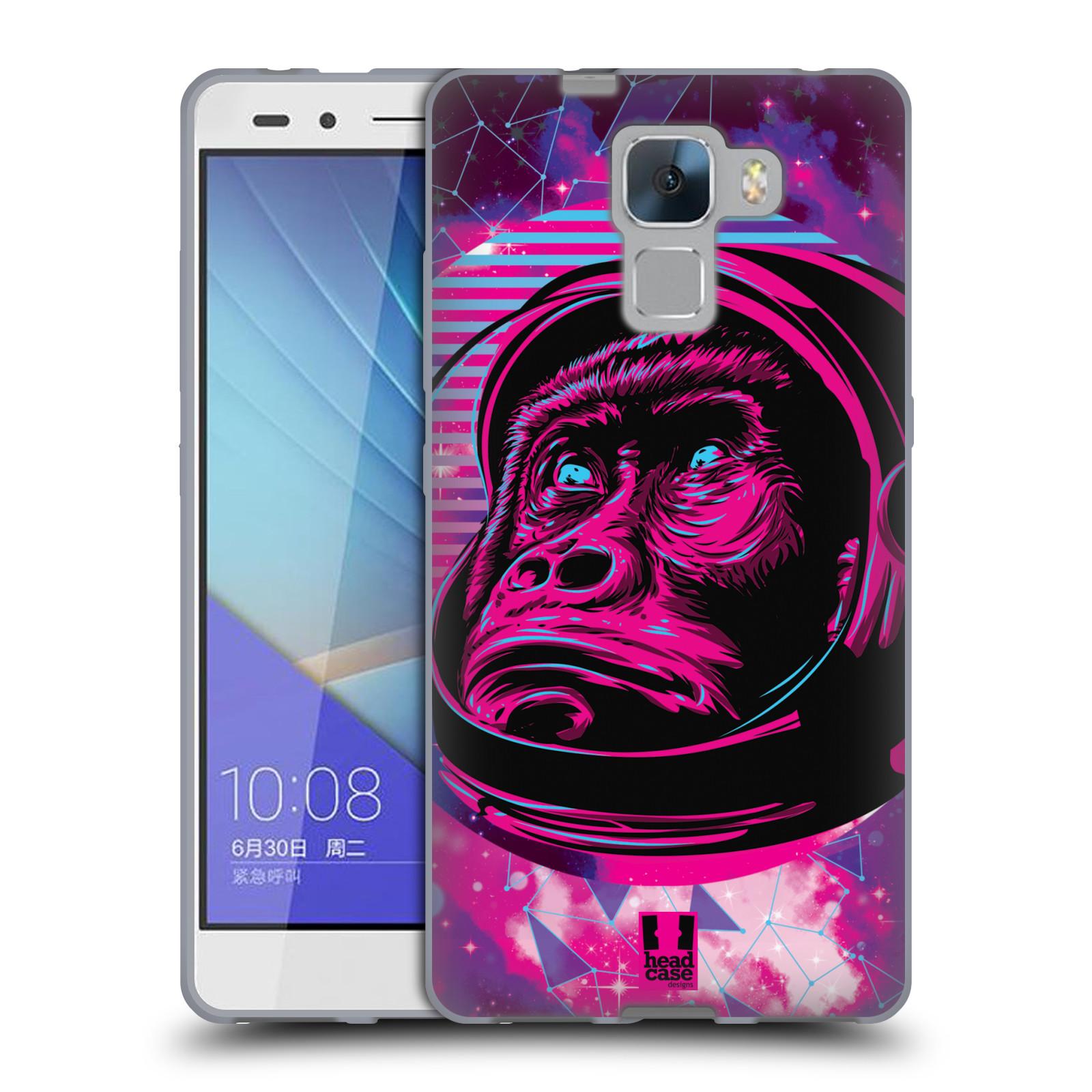 Silikonové pouzdro na mobil Honor 7 Head Case - Gorila ve skafandru