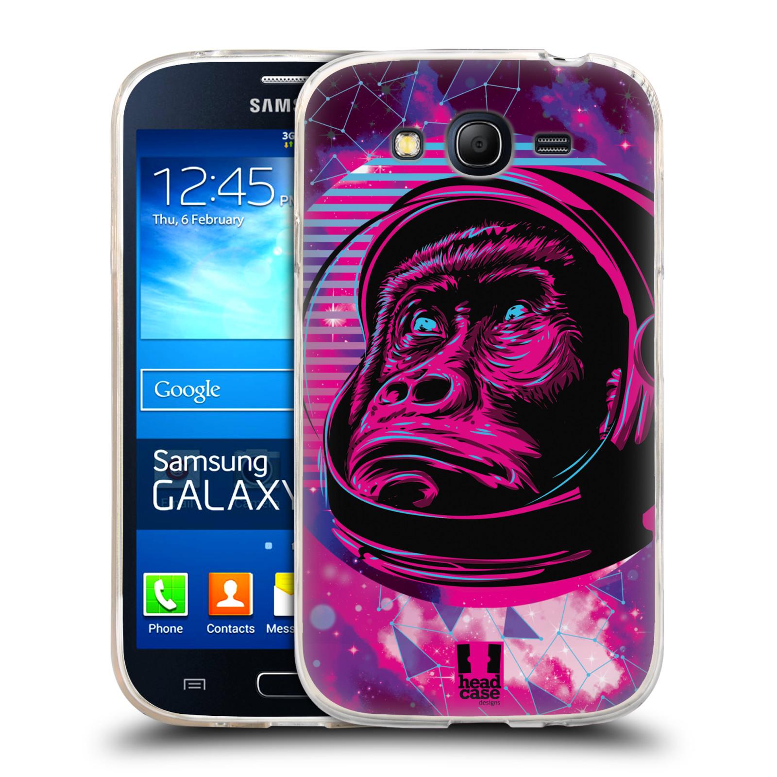Silikonové pouzdro na mobil Samsung Galaxy Grand Neo Plus Head Case - Gorila ve skafandru