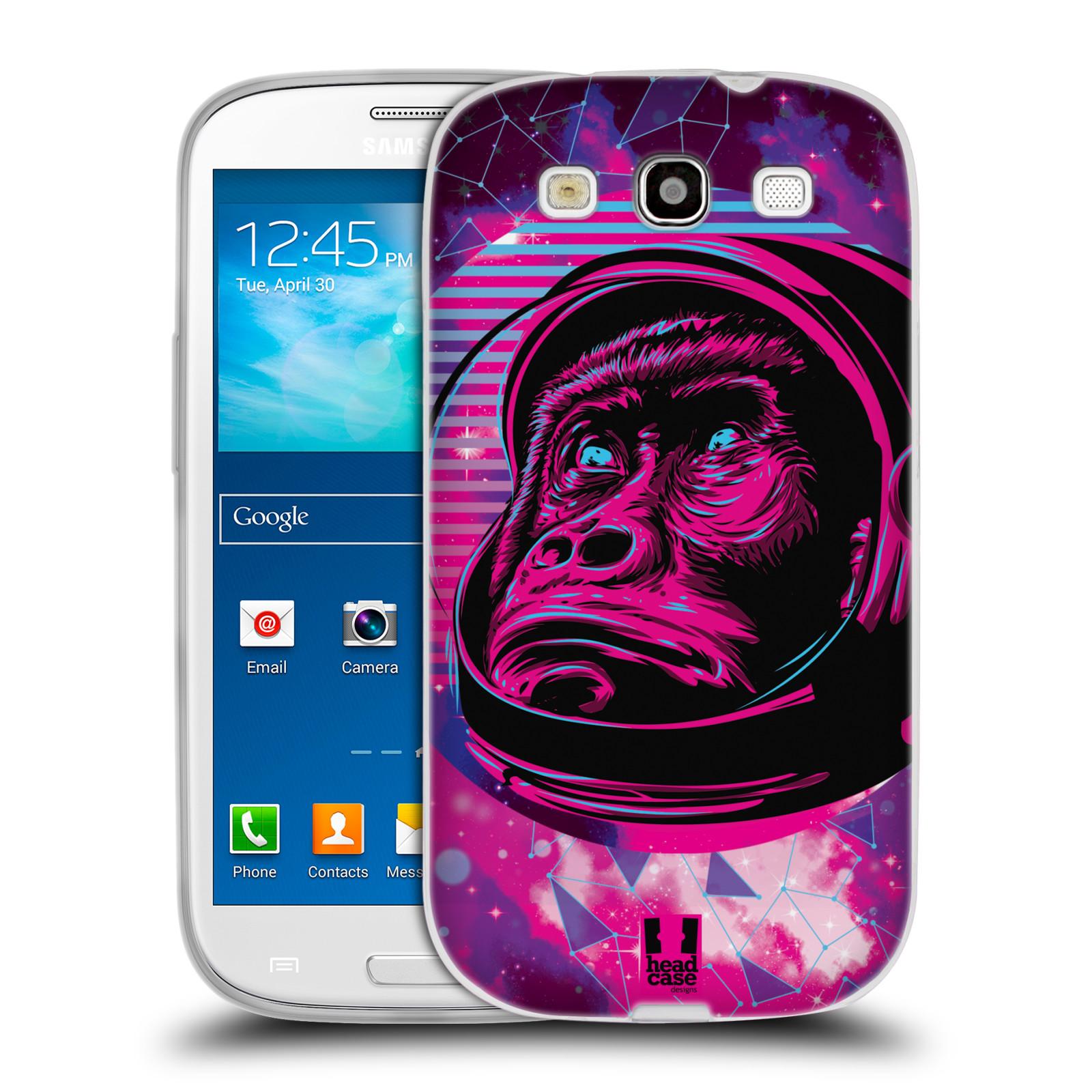 Silikonové pouzdro na mobil Samsung Galaxy S3 Neo Head Case - Gorila ve skafandru
