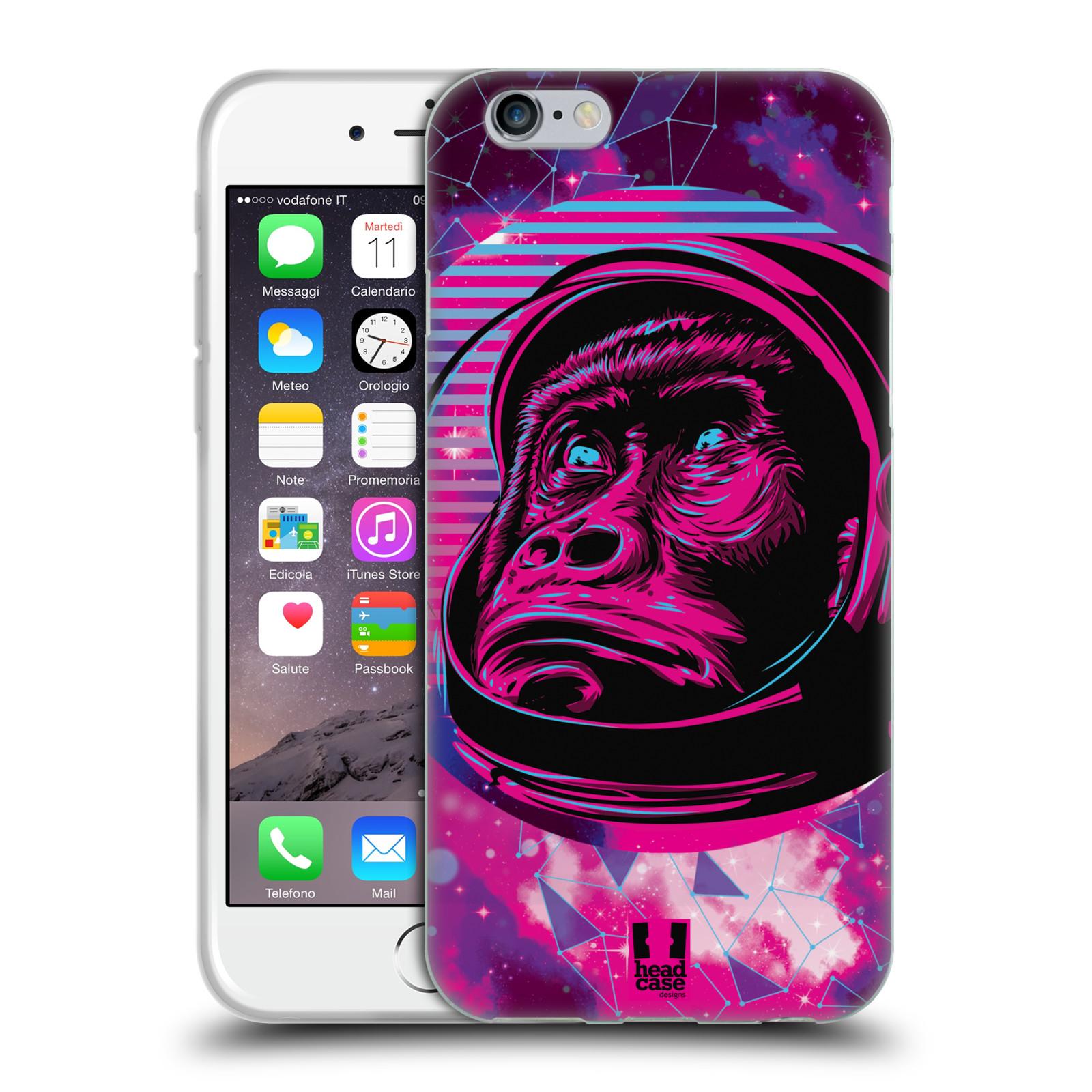 Silikonové pouzdro na mobil Apple iPhone 6 Head Case - Gorila ve skafandru