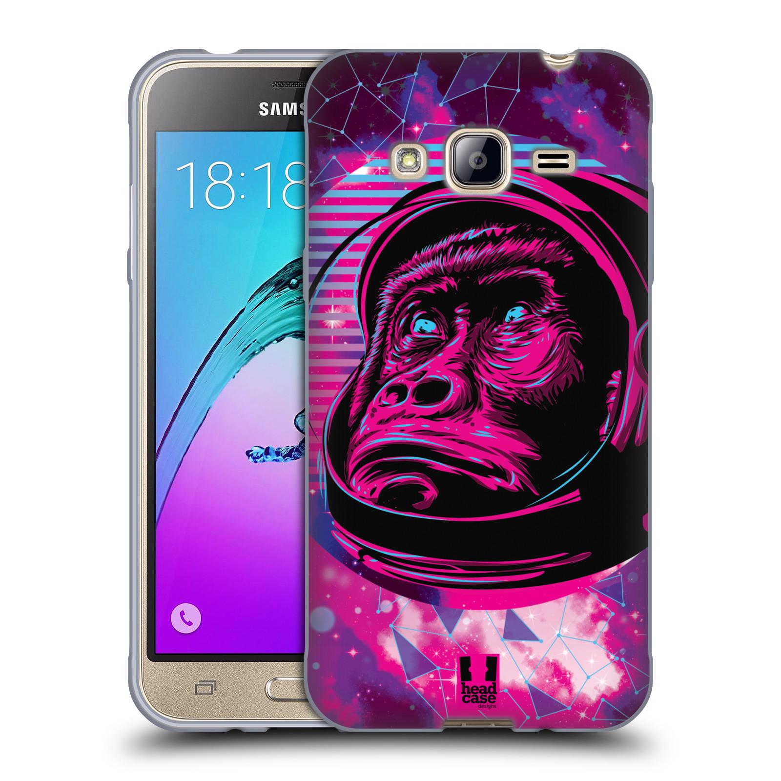 Silikonové pouzdro na mobil Samsung Galaxy J3 (2016) Head Case - Gorila ve skafandru