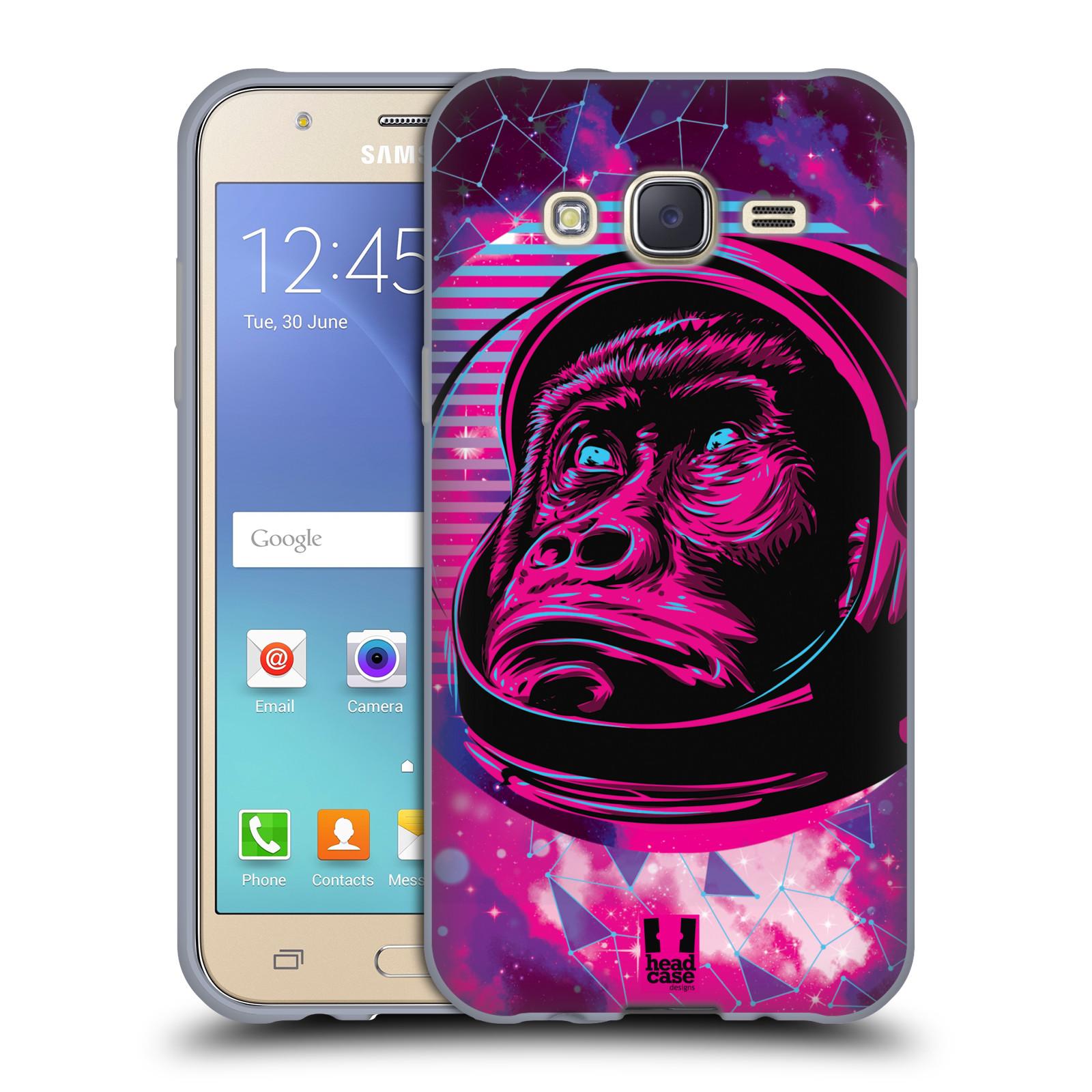 Silikonové pouzdro na mobil Samsung Galaxy J5 Head Case - Gorila ve skafandru