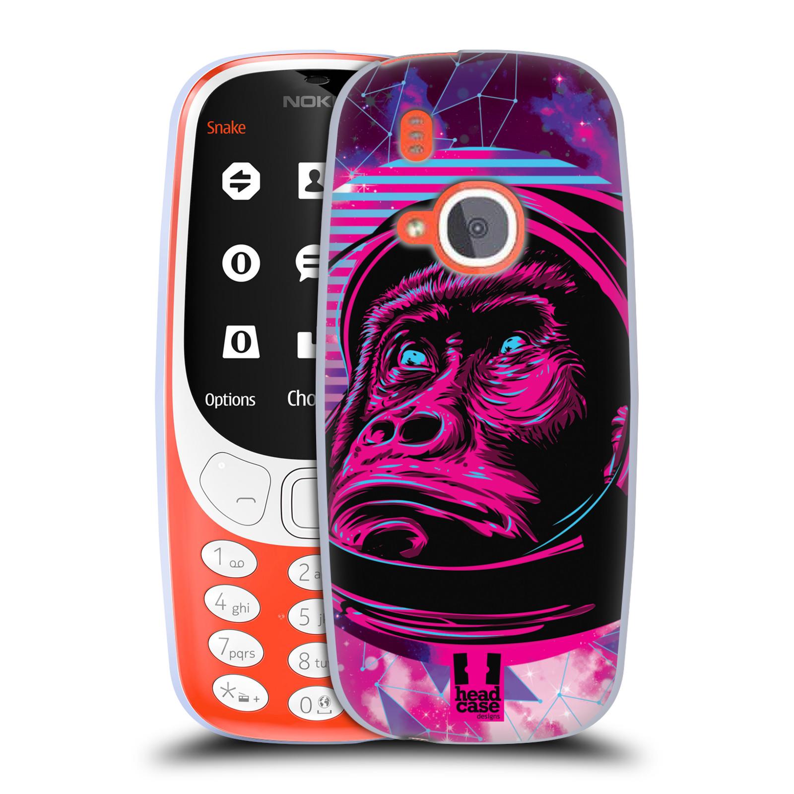 Silikonové pouzdro na mobil Nokia 3310 - Head Case - Gorila ve skafandru
