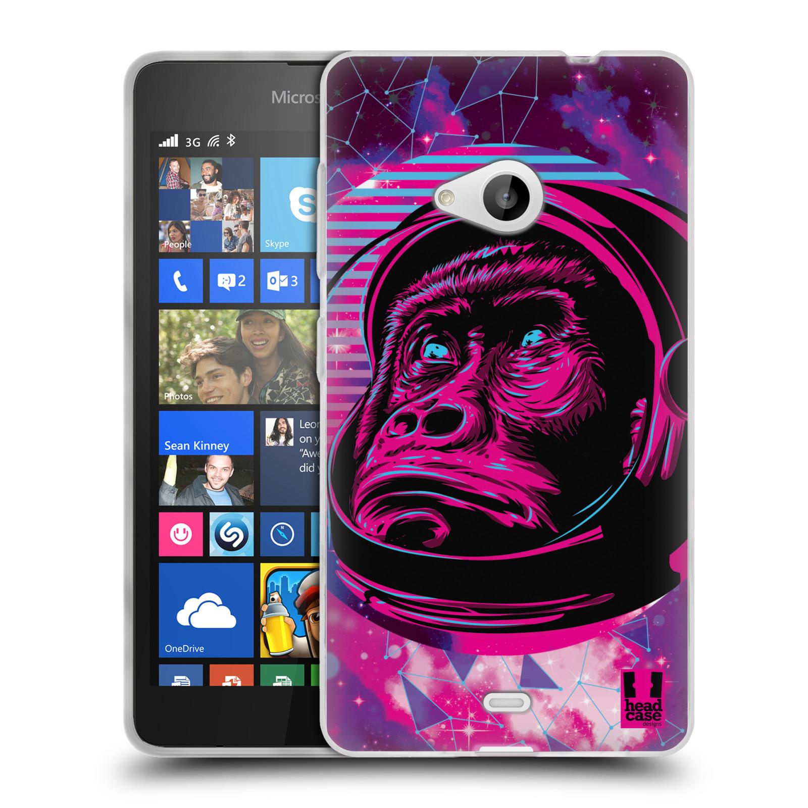Silikonové pouzdro na mobil Microsoft Lumia 535 Head Case - Gorila ve skafandru
