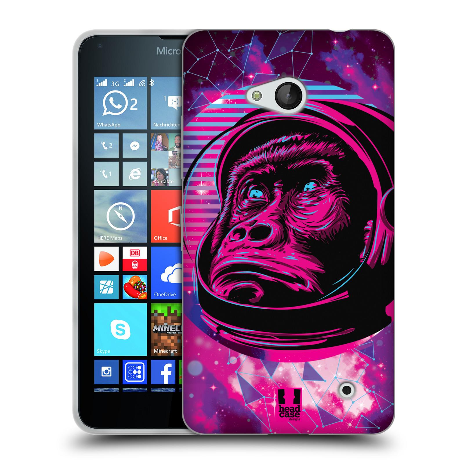 Silikonové pouzdro na mobil Microsoft Lumia 640 Head Case - Gorila ve skafandru