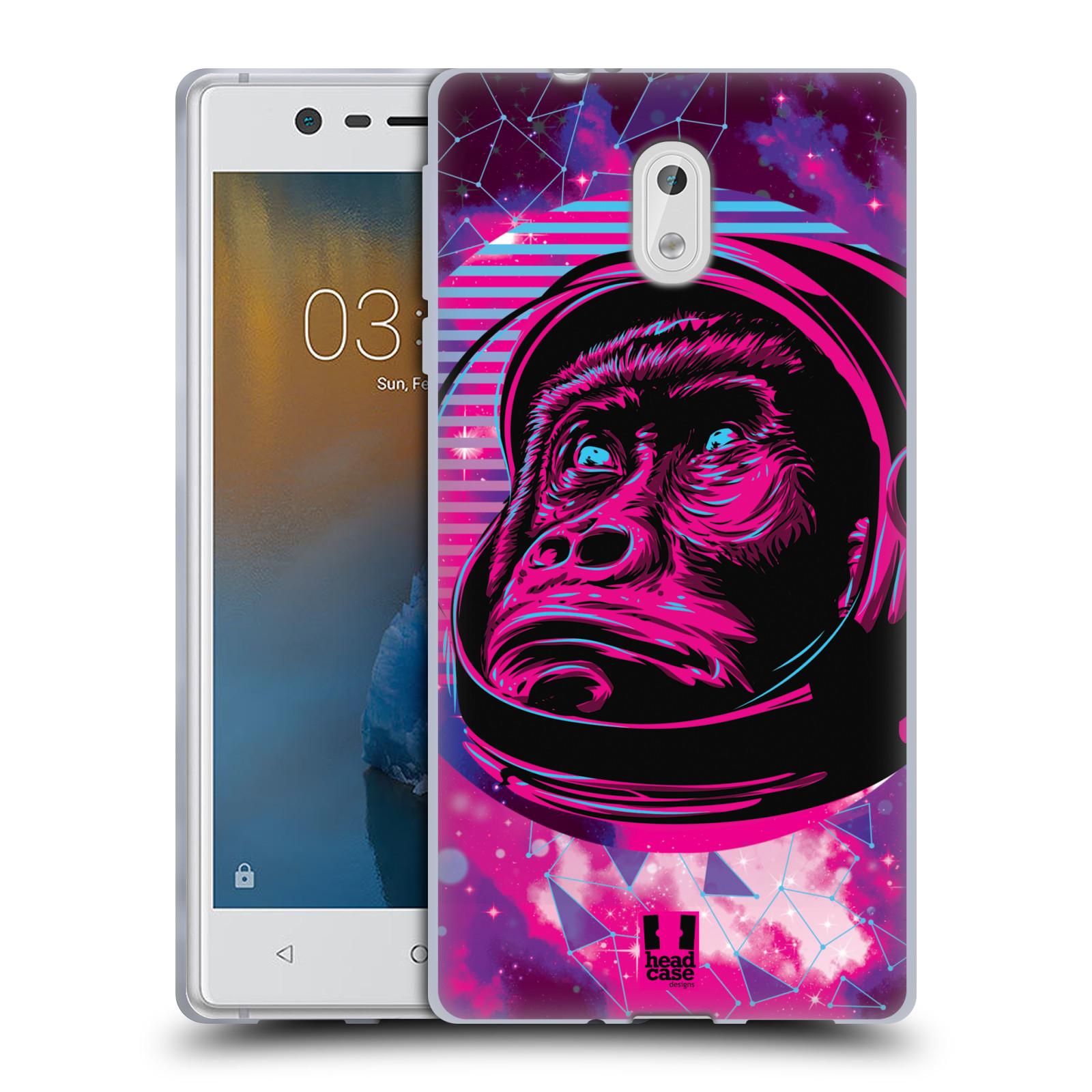 Silikonové pouzdro na mobil Nokia 3 Head Case - Gorila ve skafandru