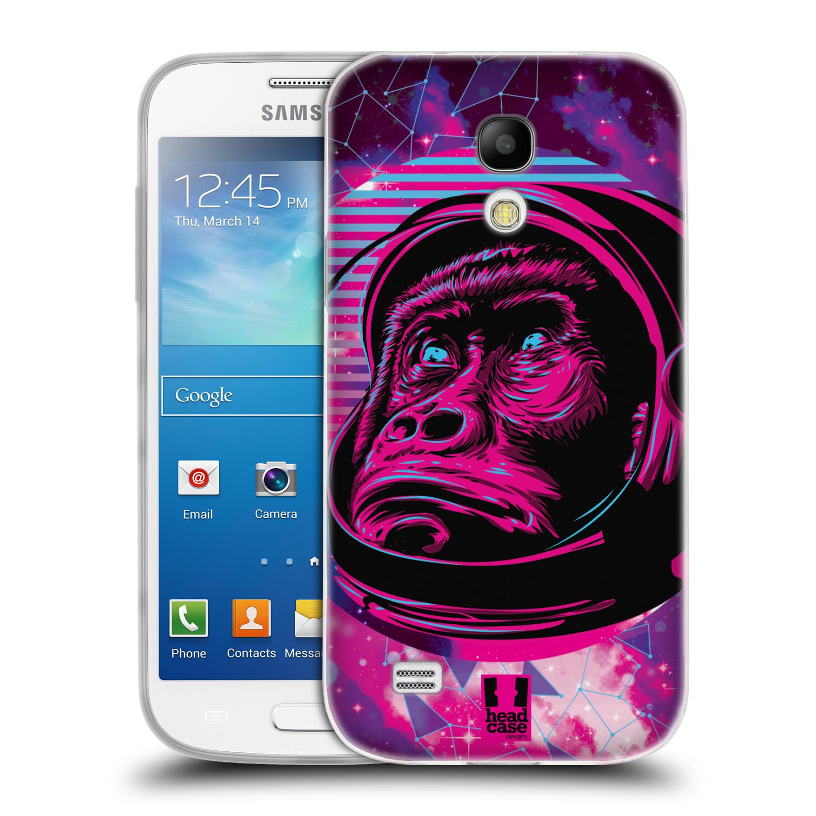 Silikonové pouzdro na mobil Samsung Galaxy S4 Mini Head Case - Gorila ve skafandru