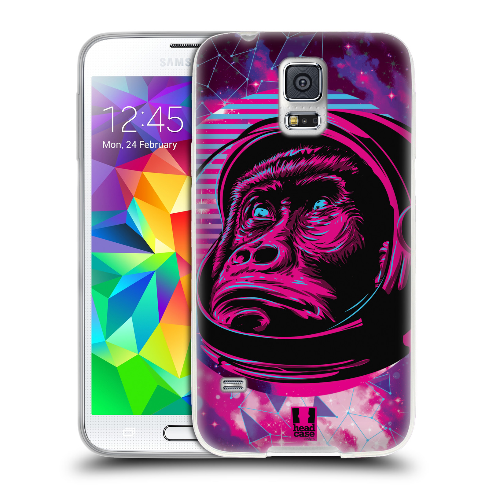 Silikonové pouzdro na mobil Samsung Galaxy S5 Neo Head Case - Gorila ve skafandru