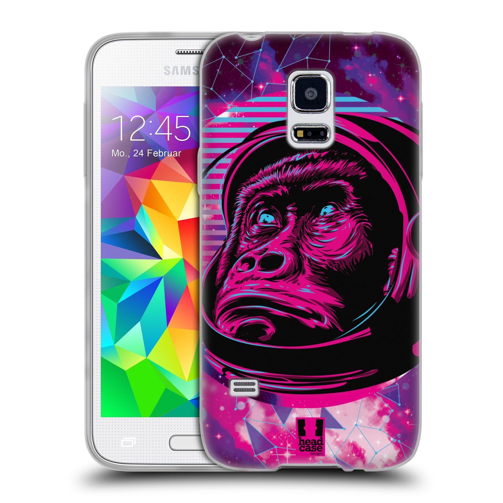 Silikonové pouzdro na mobil Samsung Galaxy S5 Mini Head Case - Gorila ve skafandru