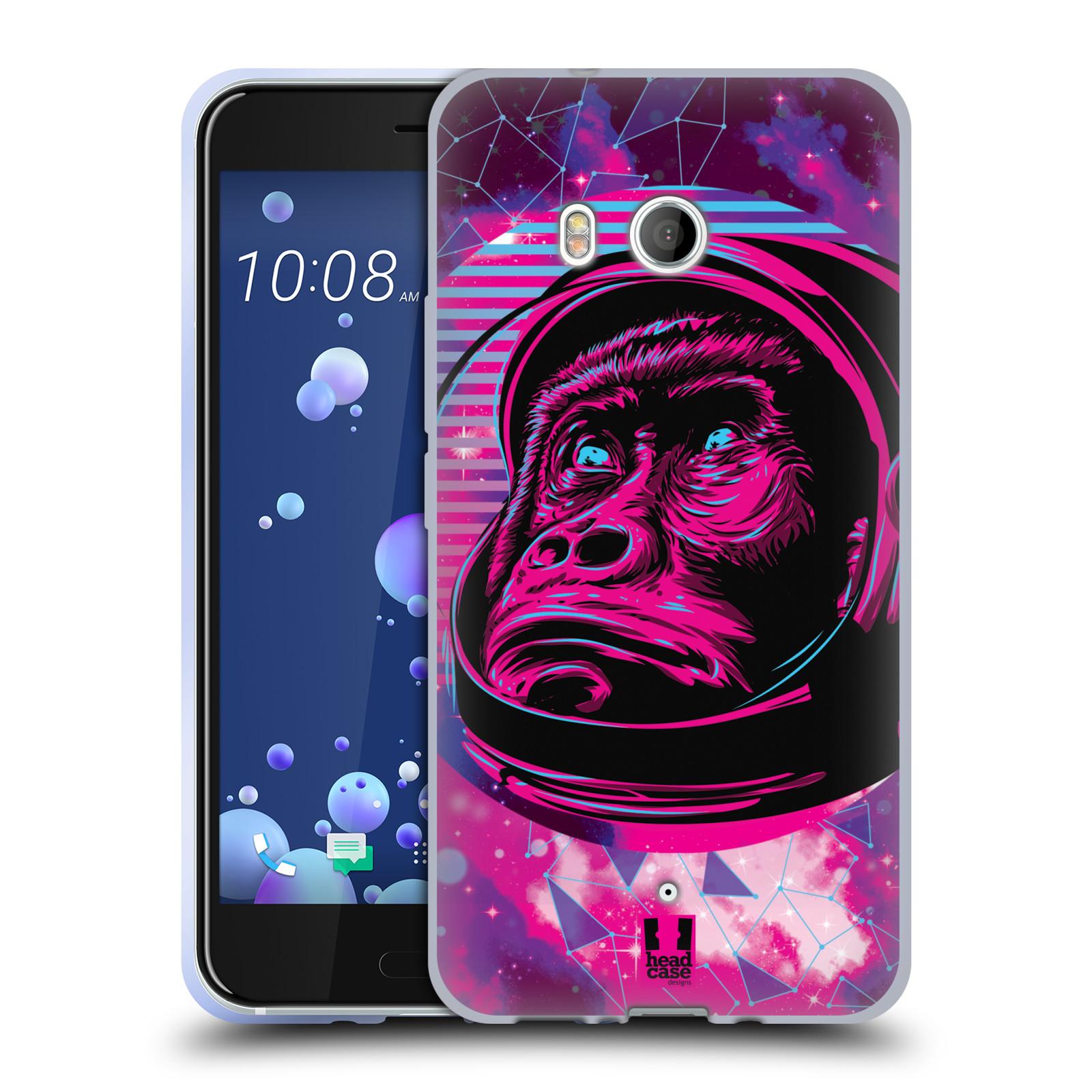 Silikonové pouzdro na mobil HTC U11 - Head Case - Gorila ve skafandru