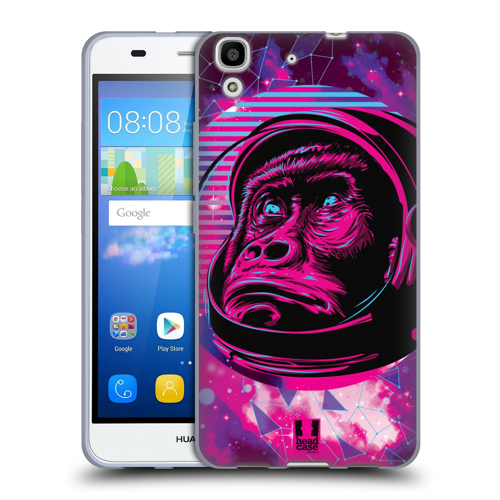 Silikonové pouzdro na mobil Huawei Y6 Head Case - Gorila ve skafandru
