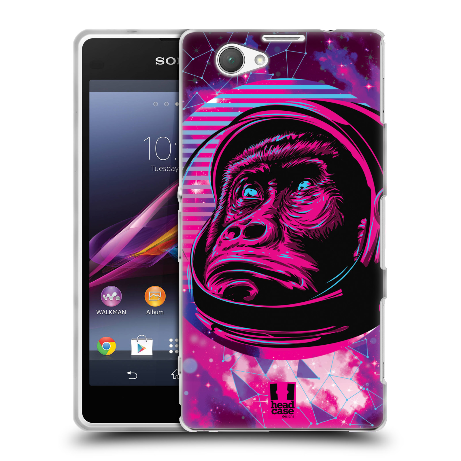 Silikonové pouzdro na mobil Sony Xperia Z1 Compact D5503 Head Case - Gorila ve skafandru