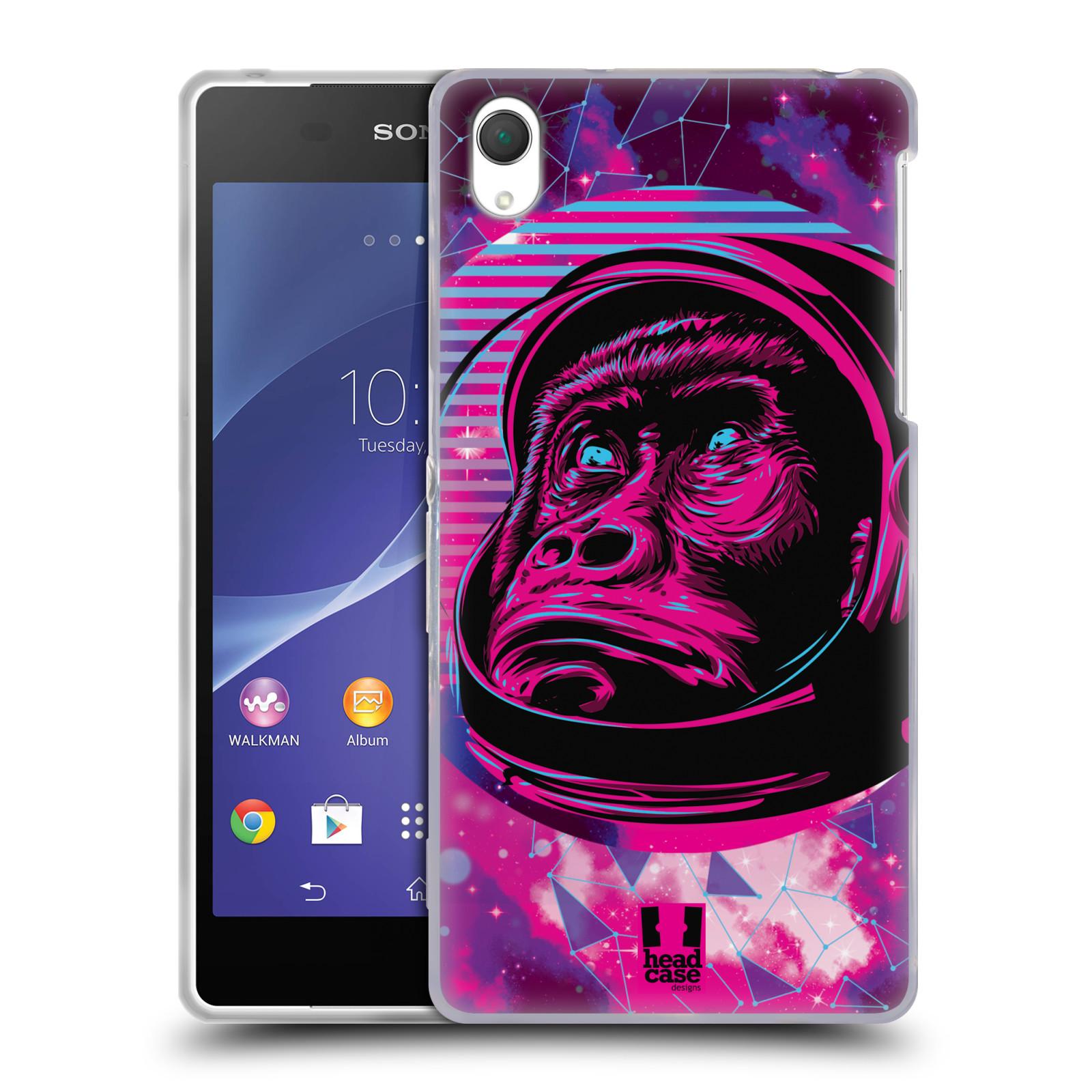 Silikonové pouzdro na mobil Sony Xperia Z2 D6503 Head Case - Gorila ve skafandru
