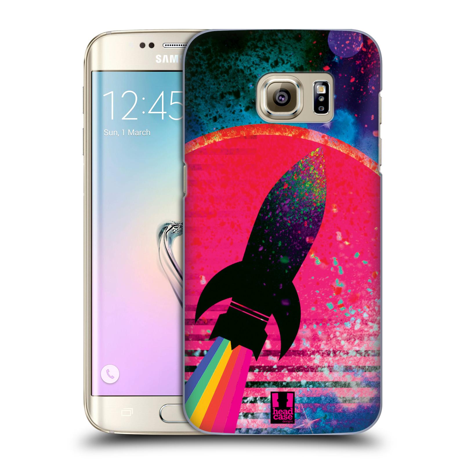 Plastové pouzdro na mobil Samsung Galaxy S7 Edge Head Case - Raketka