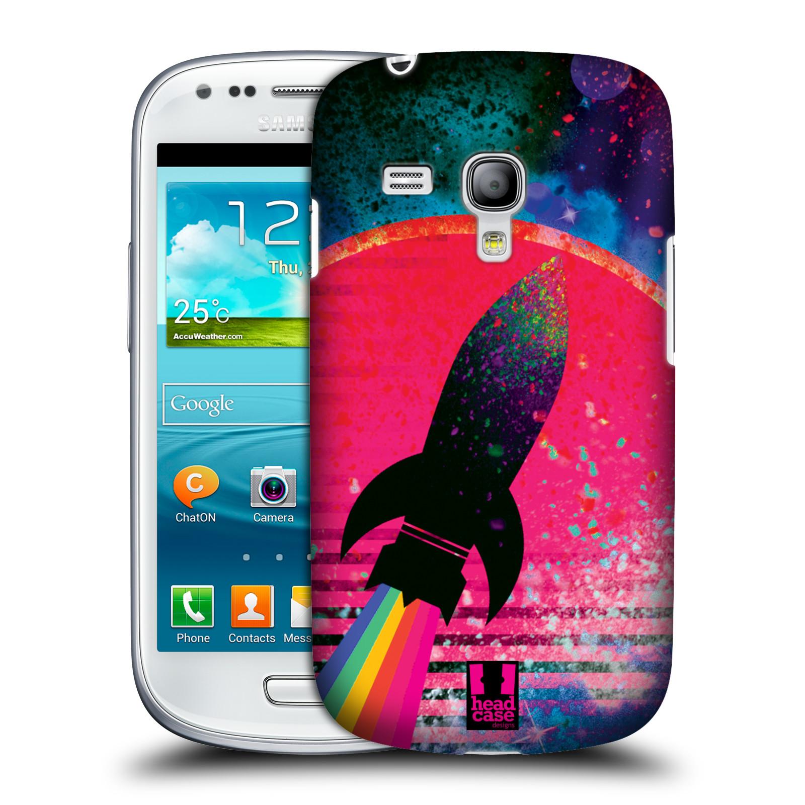 Silikonové pouzdro na mobil Samsung Galaxy S III Mini VE Head Case - Raketka (Plastový kryt či obal na mobilní telefon s motivem z osmdesátek pro Samsung Galaxy S3 Mini VE GT-i8200)
