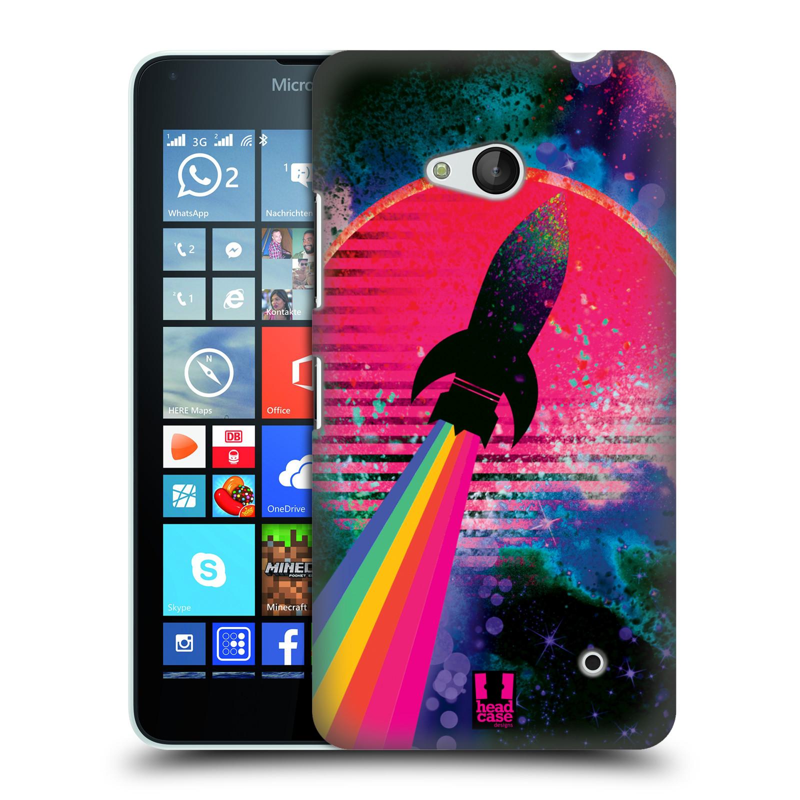 Plastové pouzdro na mobil Microsoft Lumia 640 Head Case - Raketka