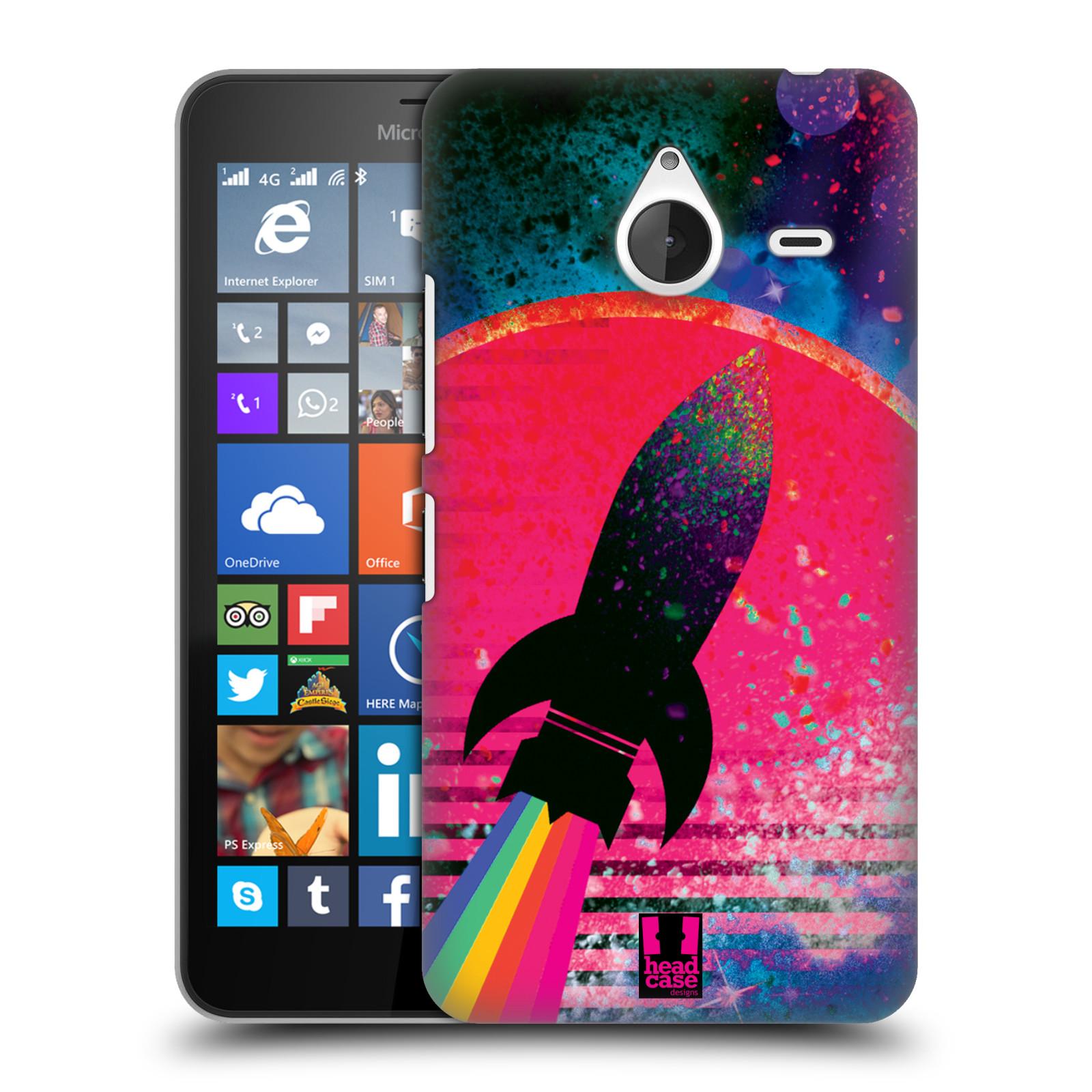 Plastové pouzdro na mobil Microsoft Lumia 640 XL Head Case - Raketka (Plastový kryt či obal na mobilní telefon s motivem z osmdesátek pro Microsoft Lumia 640 XL)