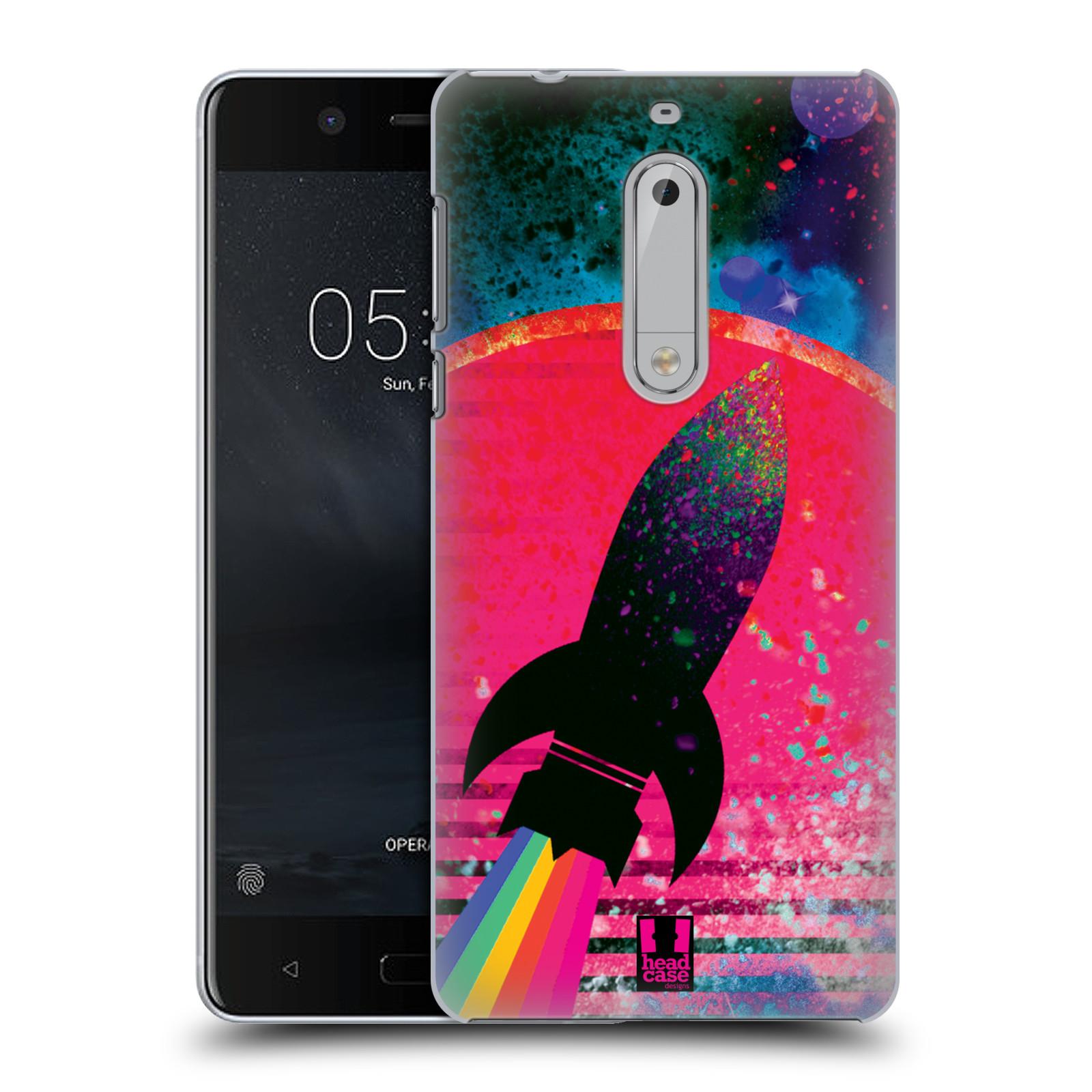 Plastové pouzdro na mobil Nokia 5 Head Case - Raketka (Plastový kryt či obal na mobilní telefon s motivem z osmdesátek pro Nokia 5 (2017))