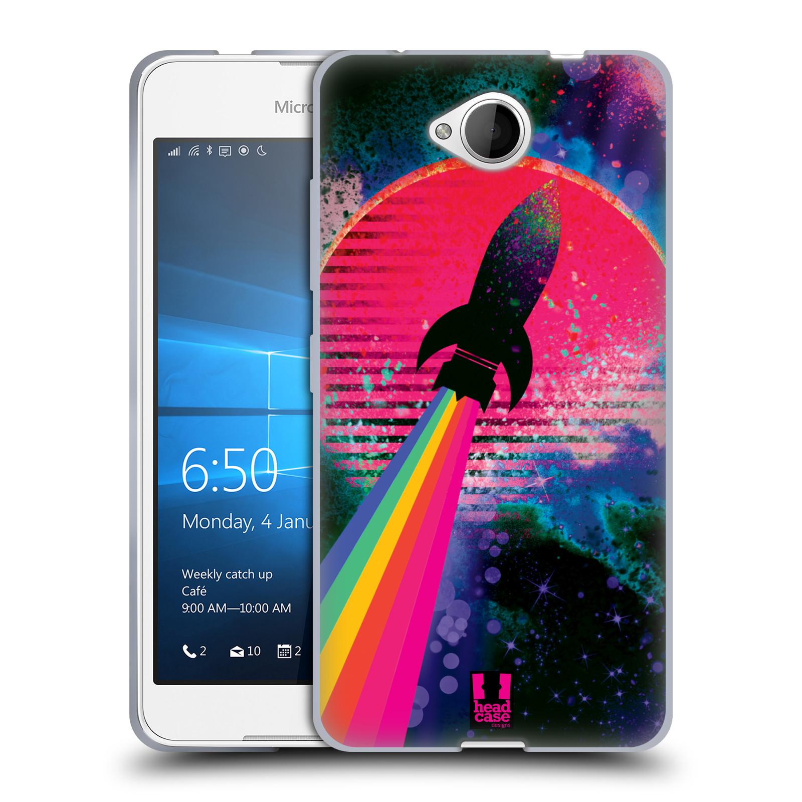 Silikonové pouzdro na mobil Microsoft Lumia 650 Head Case - Raketka