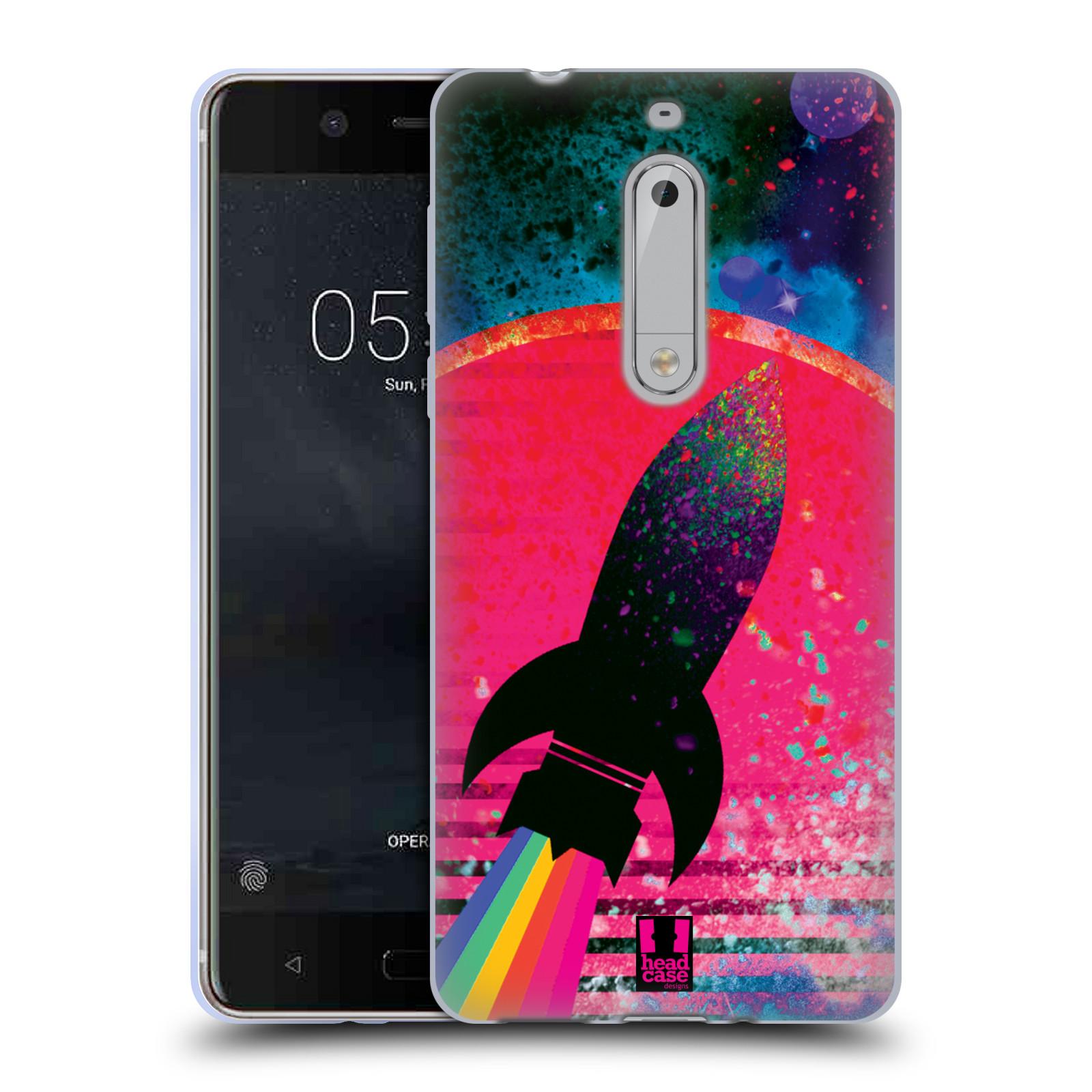 Silikonové pouzdro na mobil Nokia 5 Head Case - Raketka (Silikonový kryt či obal na mobilní telefon s motivem z osmdesátek pro Nokia 5 (2017))