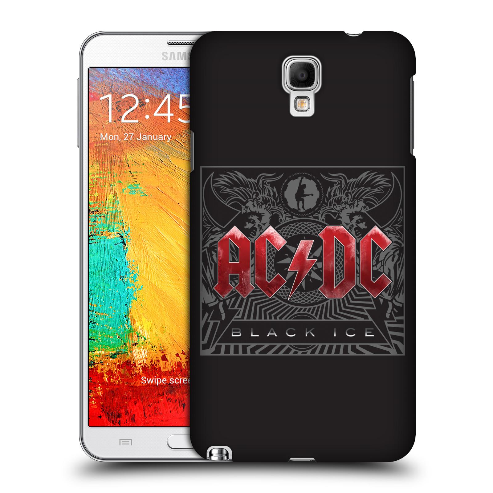 Plastové pouzdro na mobil Samsung Galaxy Note 3 Neo HEAD CASE AC/DC Black Ice (Plastový kryt či obal na mobilní telefon s oficiálním motivem australské skupiny AC/DC pro Samsung Galaxy Note 3 Neo SM-N7505)