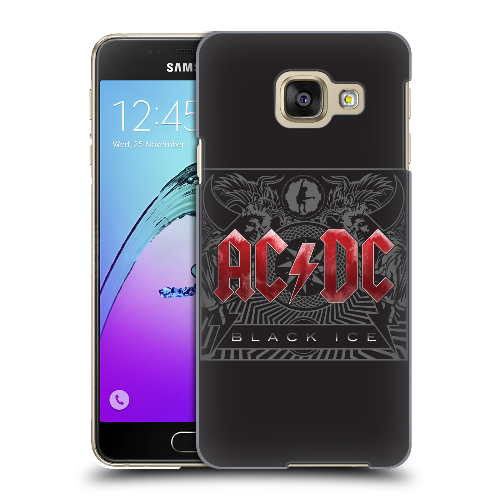 Plastové pouzdro na mobil Samsung Galaxy A3 (2016) HEAD CASE AC/DC Black Ice