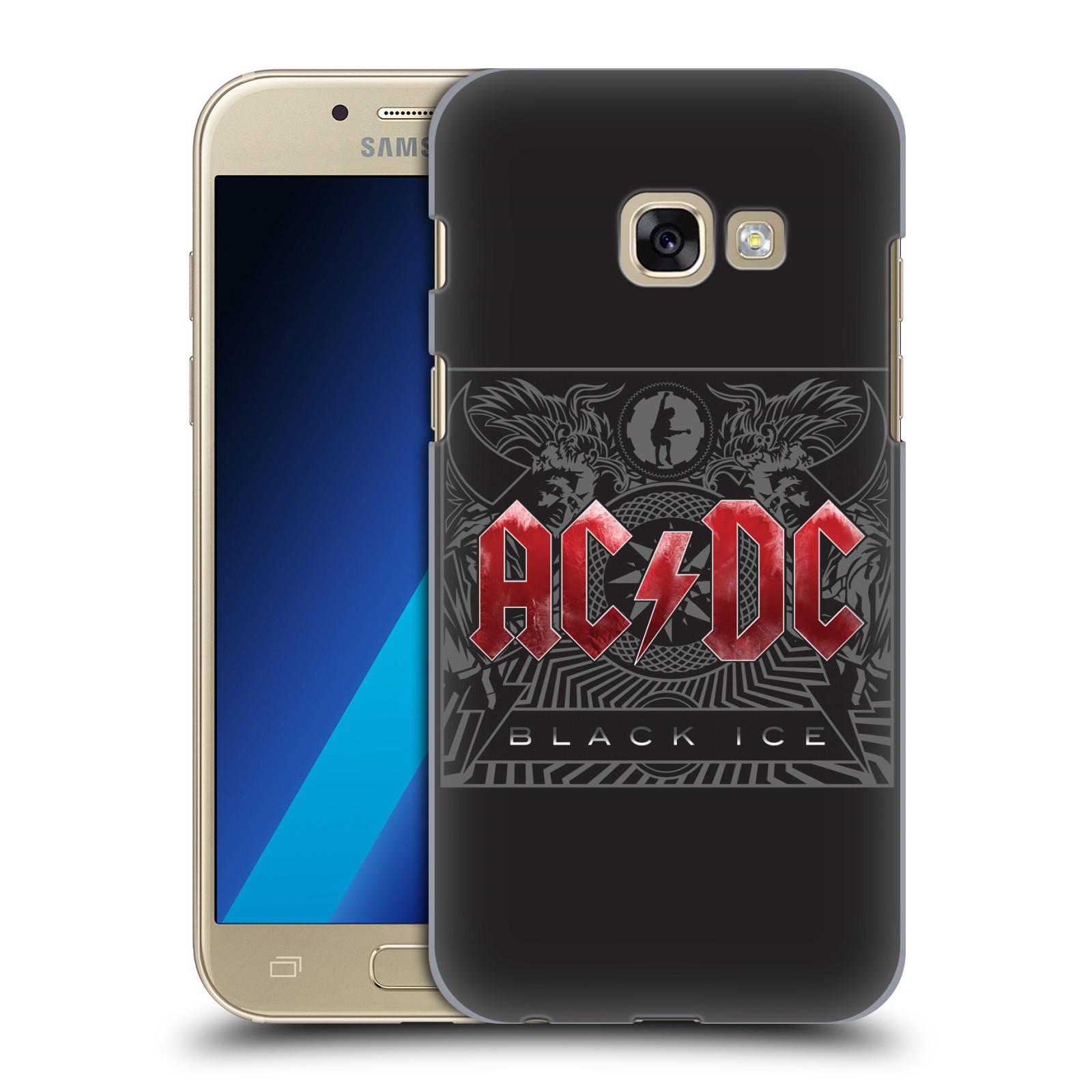 Plastové pouzdro na mobil Samsung Galaxy A3 (2017) HEAD CASE AC/DC Black Ice