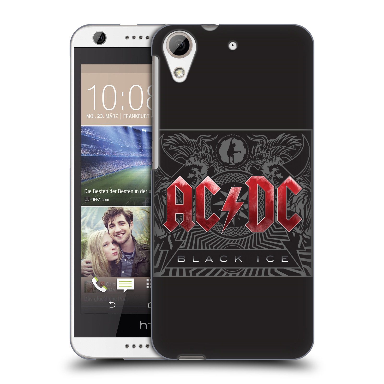 Plastové pouzdro na mobil HTC Desire 626 / 626G HEAD CASE AC/DC Black Ice (Plastový kryt či obal na mobilní telefon s oficiálním motivem australské skupiny AC/DC pro HTC Desire 626G Dual SIM a HTC Desire 626)