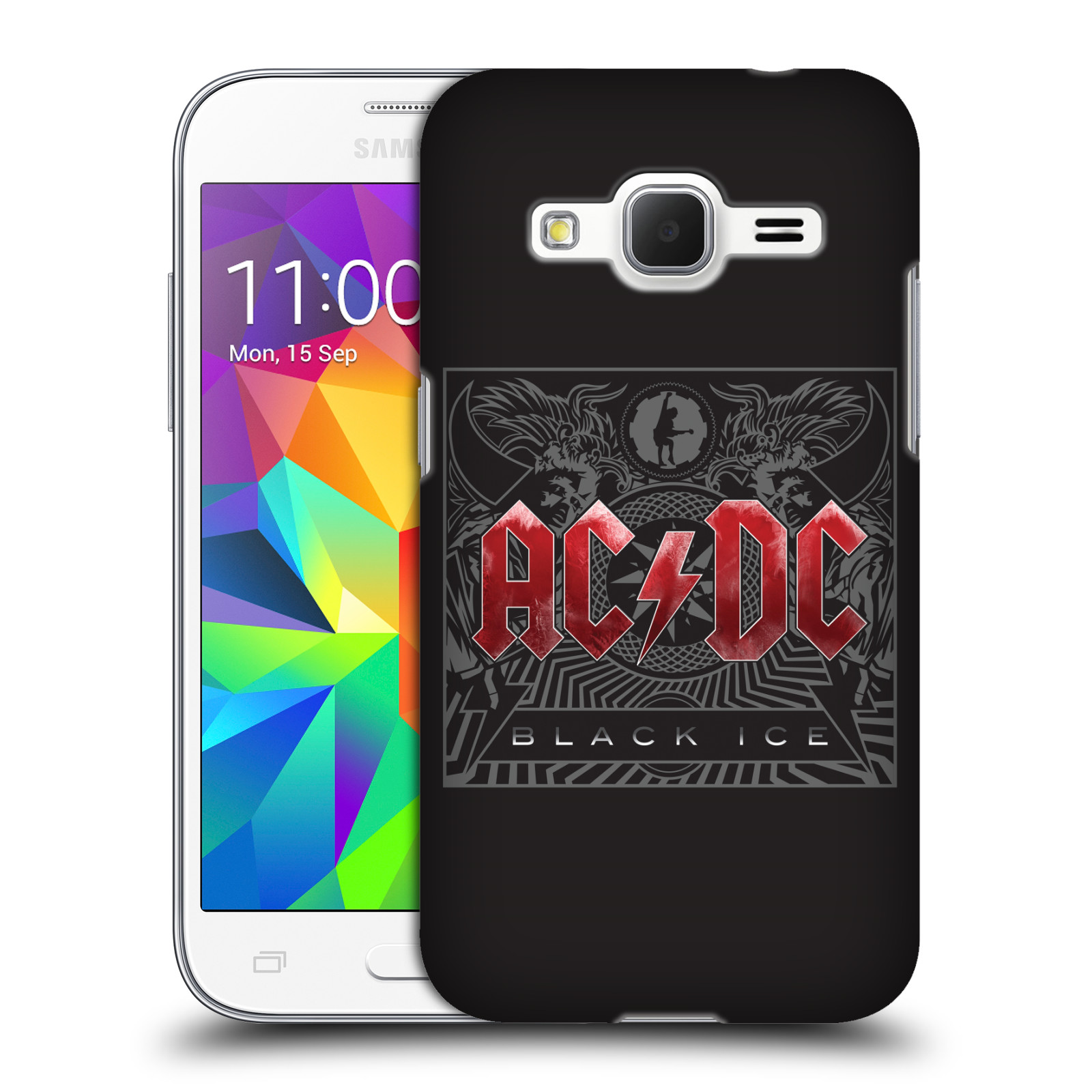 Plastové pouzdro na mobil Samsung Galaxy Core Prime VE HEAD CASE AC/DC Black Ice