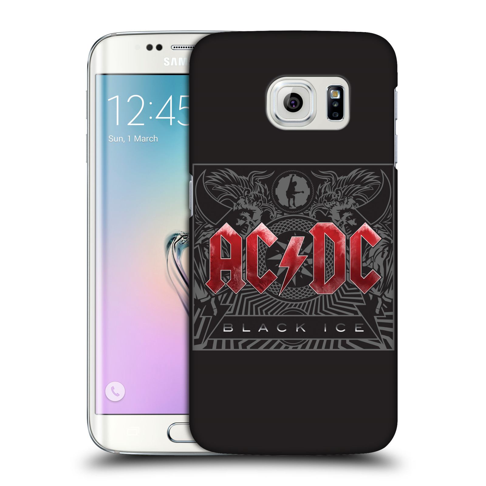 Plastové pouzdro na mobil Samsung Galaxy S6 Edge HEAD CASE AC/DC Black Ice