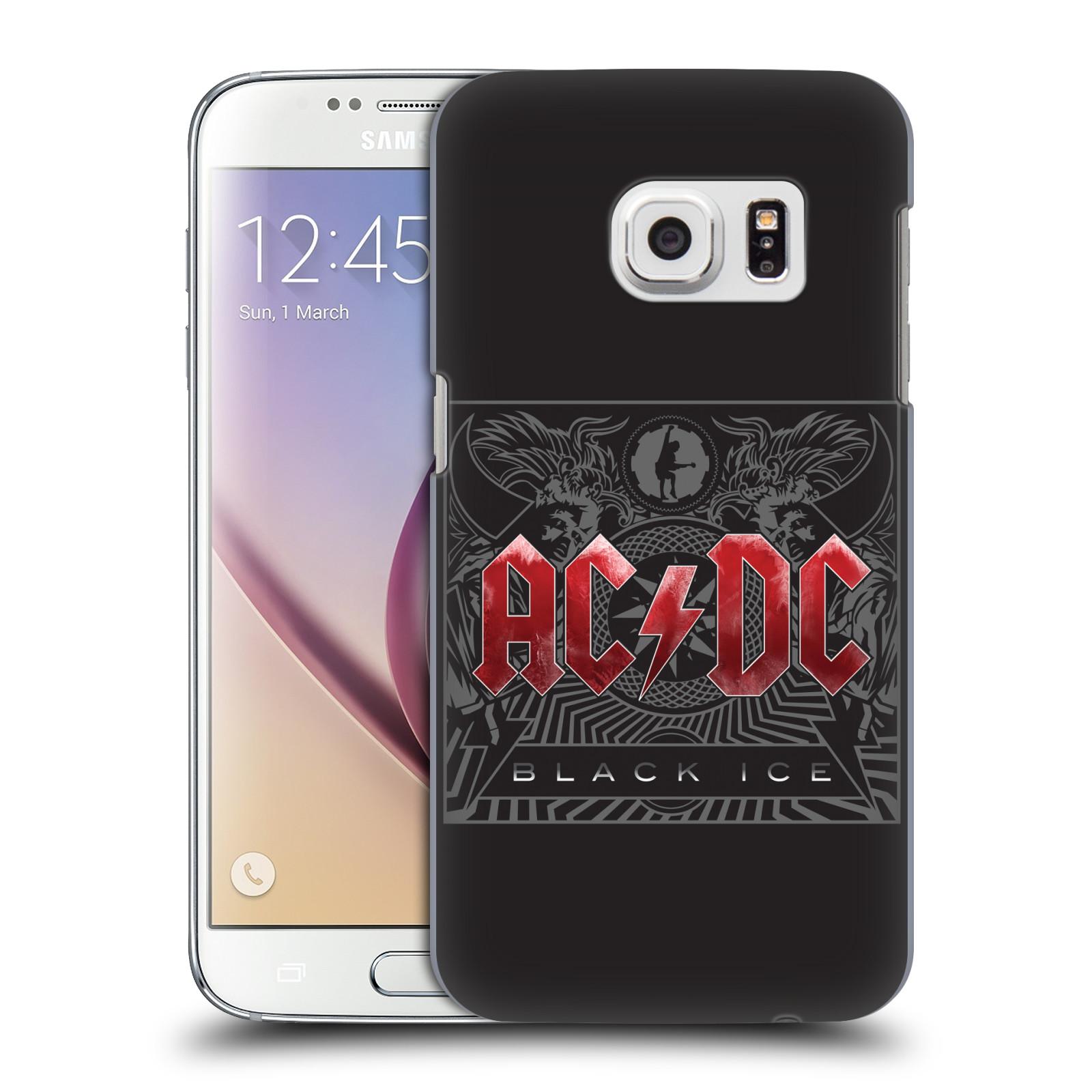 Plastové pouzdro na mobil Samsung Galaxy S7 HEAD CASE AC/DC Black Ice (Plastový kryt či obal na mobilní telefon s oficiálním motivem australské skupiny AC/DC pro Samsung Galaxy S7 SM-G930F)