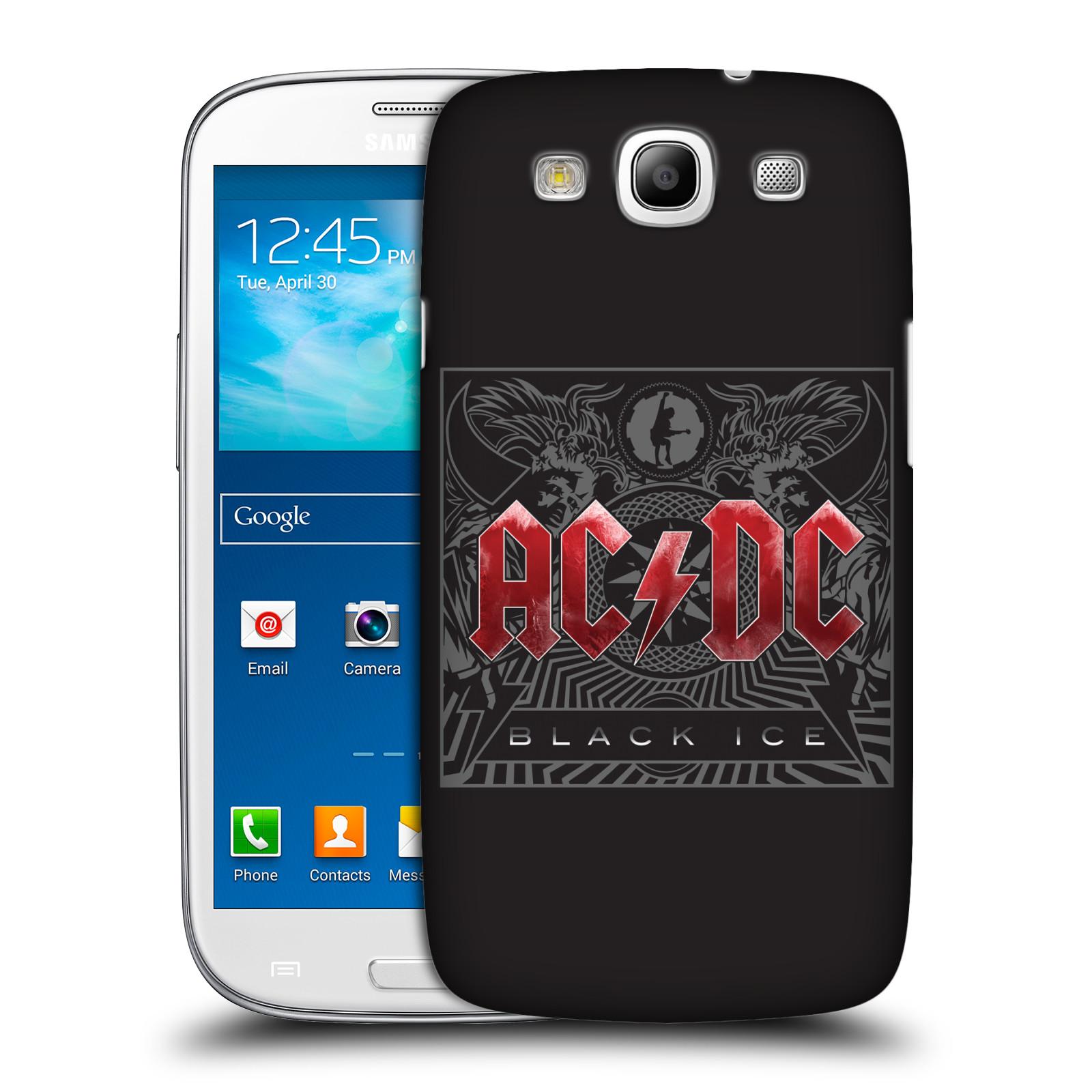Plastové pouzdro na mobil Samsung Galaxy S III HEAD CASE AC/DC Black Ice (Plastový kryt či obal na mobilní telefon s oficiálním motivem australské skupiny AC/DC pro Samsung Galaxy S III GT-i9300)
