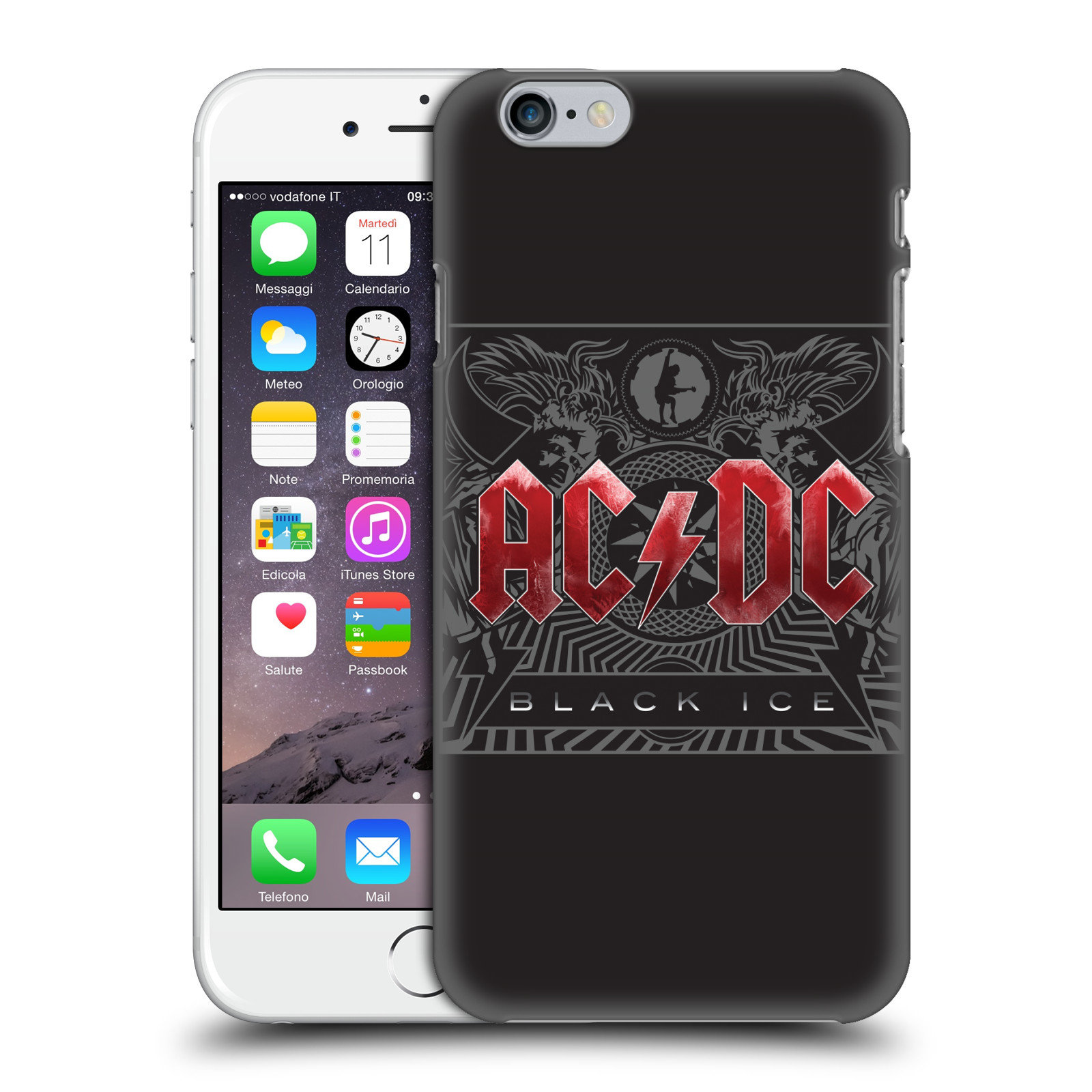 Plastové pouzdro na mobil Apple iPhone 6 HEAD CASE AC/DC Black Ice