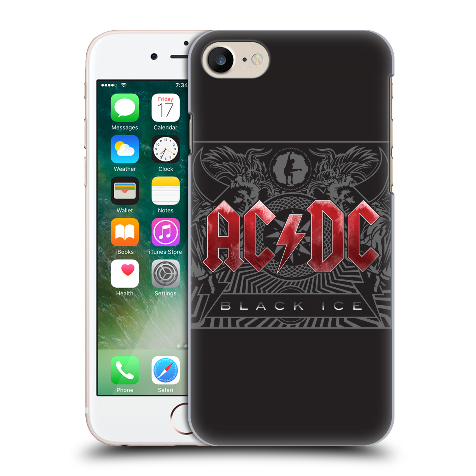Plastové pouzdro na mobil Apple iPhone 7 HEAD CASE AC/DC Black Ice