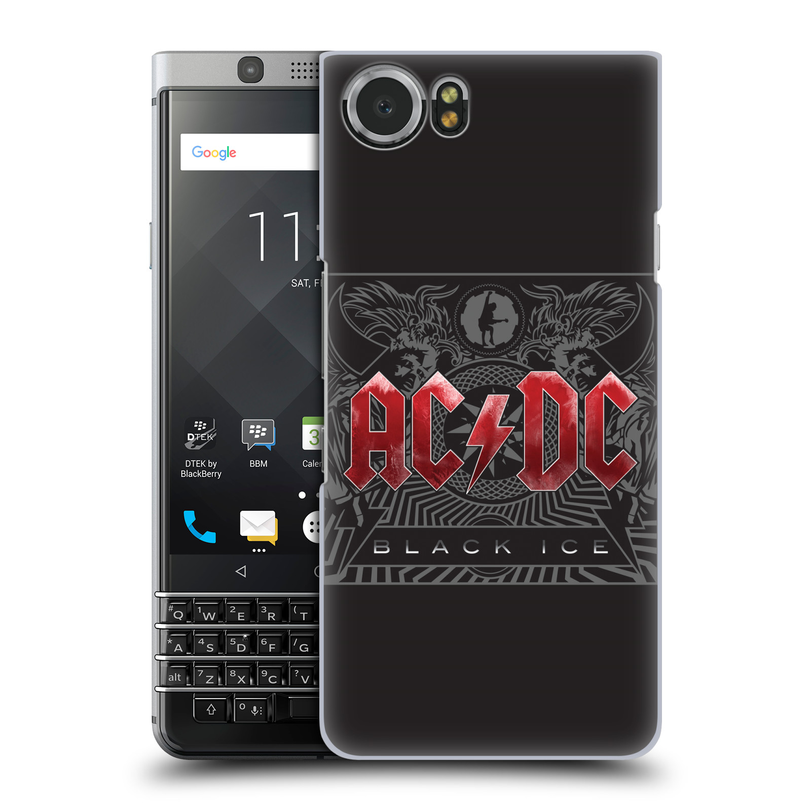 Plastové pouzdro na mobil BlackBerry KEYone - Head Case - AC/DC Black Ice