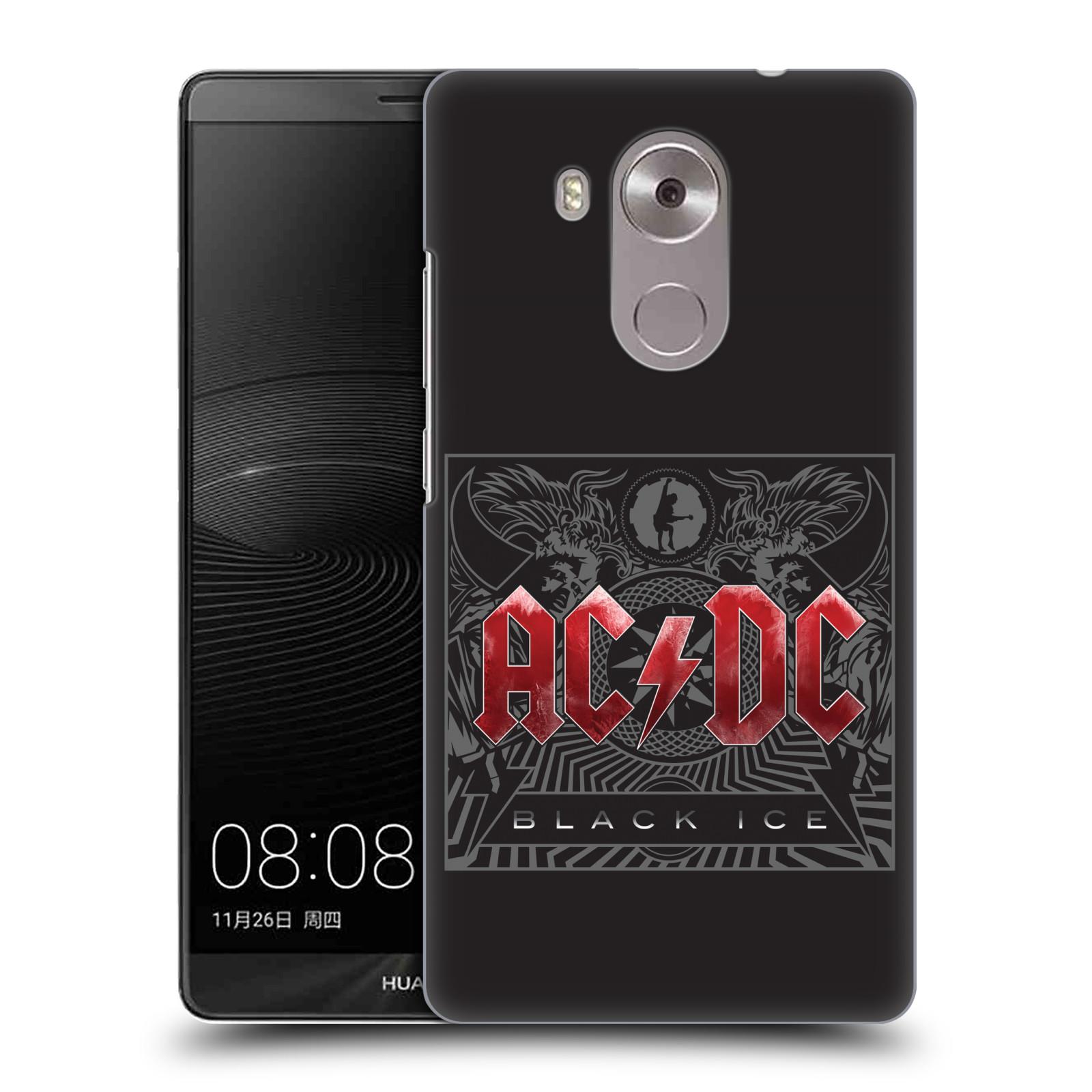 Plastové pouzdro na mobil Huawei Mate 8 HEAD CASE AC/DC Black Ice (Plastový kryt či obal na mobilní telefon s oficiálním motivem australské skupiny AC/DC pro Huawei Ascend MATE8)
