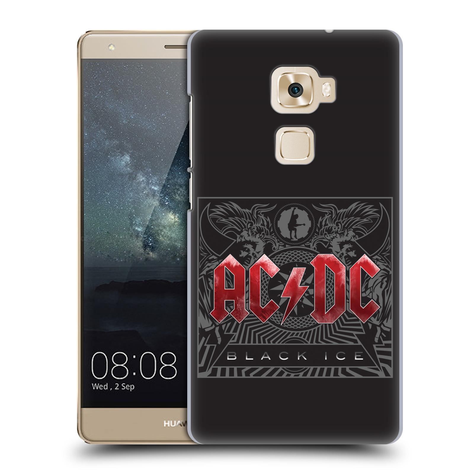 Plastové pouzdro na mobil Huawei Mate S HEAD CASE AC/DC Black Ice (Plastový kryt či obal na mobilní telefon s oficiálním motivem australské skupiny AC/DC pro Huawei Mate S)