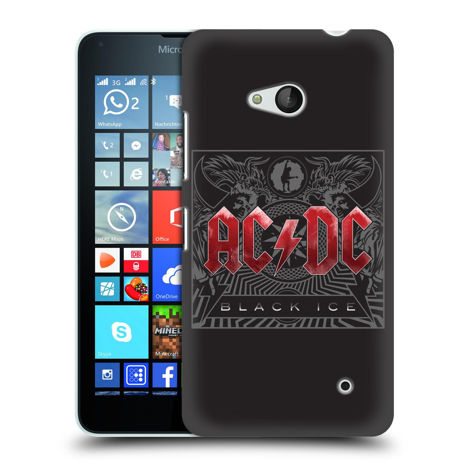 Plastové pouzdro na mobil Microsoft Lumia 640 HEAD CASE AC/DC Black Ice