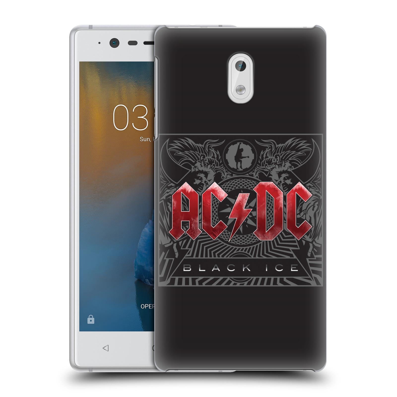 Plastové pouzdro na mobil Nokia 3 Head Case - AC/DC Black Ice
