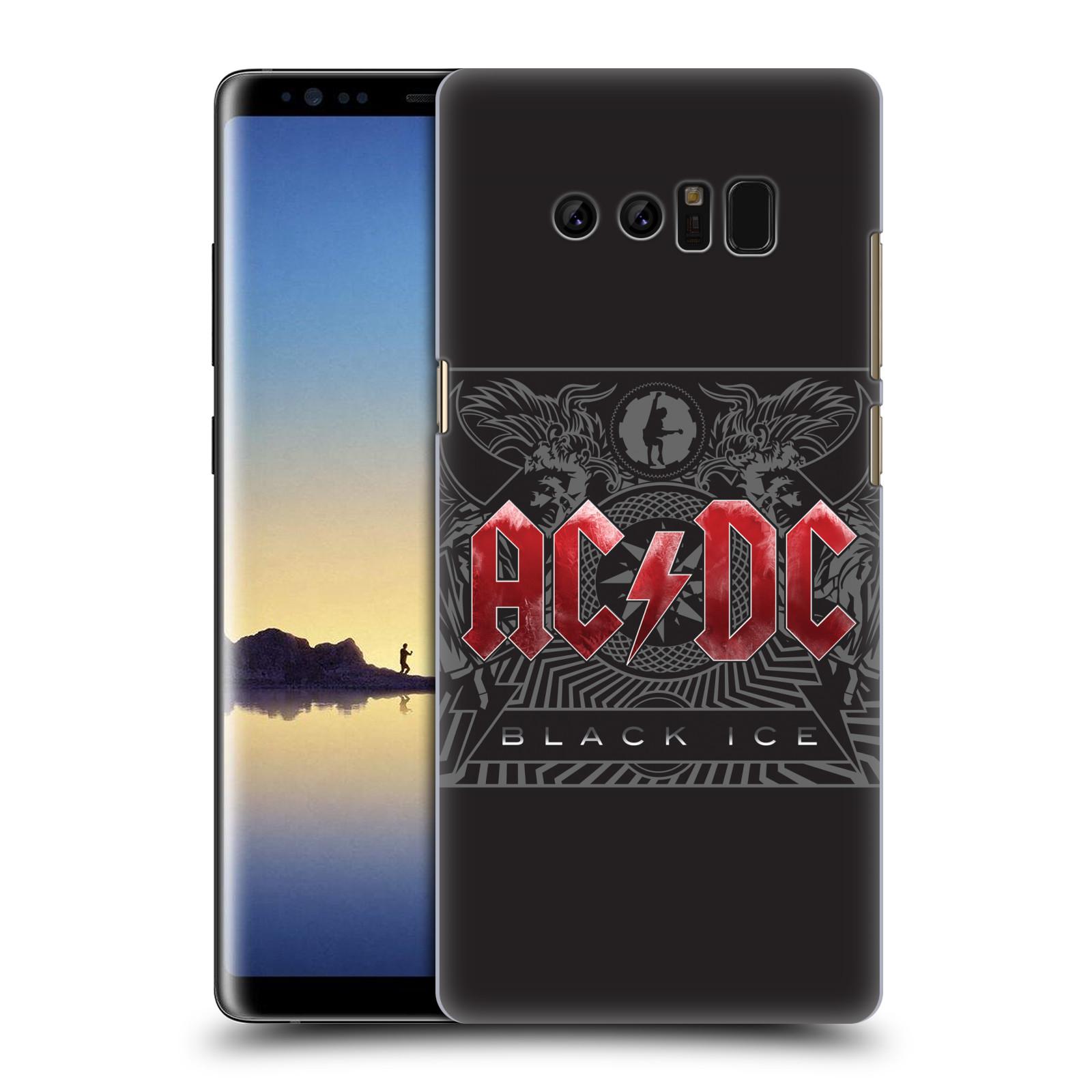 Plastové pouzdro na mobil Samsung Galaxy Note 8 - Head Case - AC/DC Black Ice (Plastový kryt či obal na mobilní telefon Samsung Galaxy Note 8 SM-N950 s motivem AC/DC Black Ice)