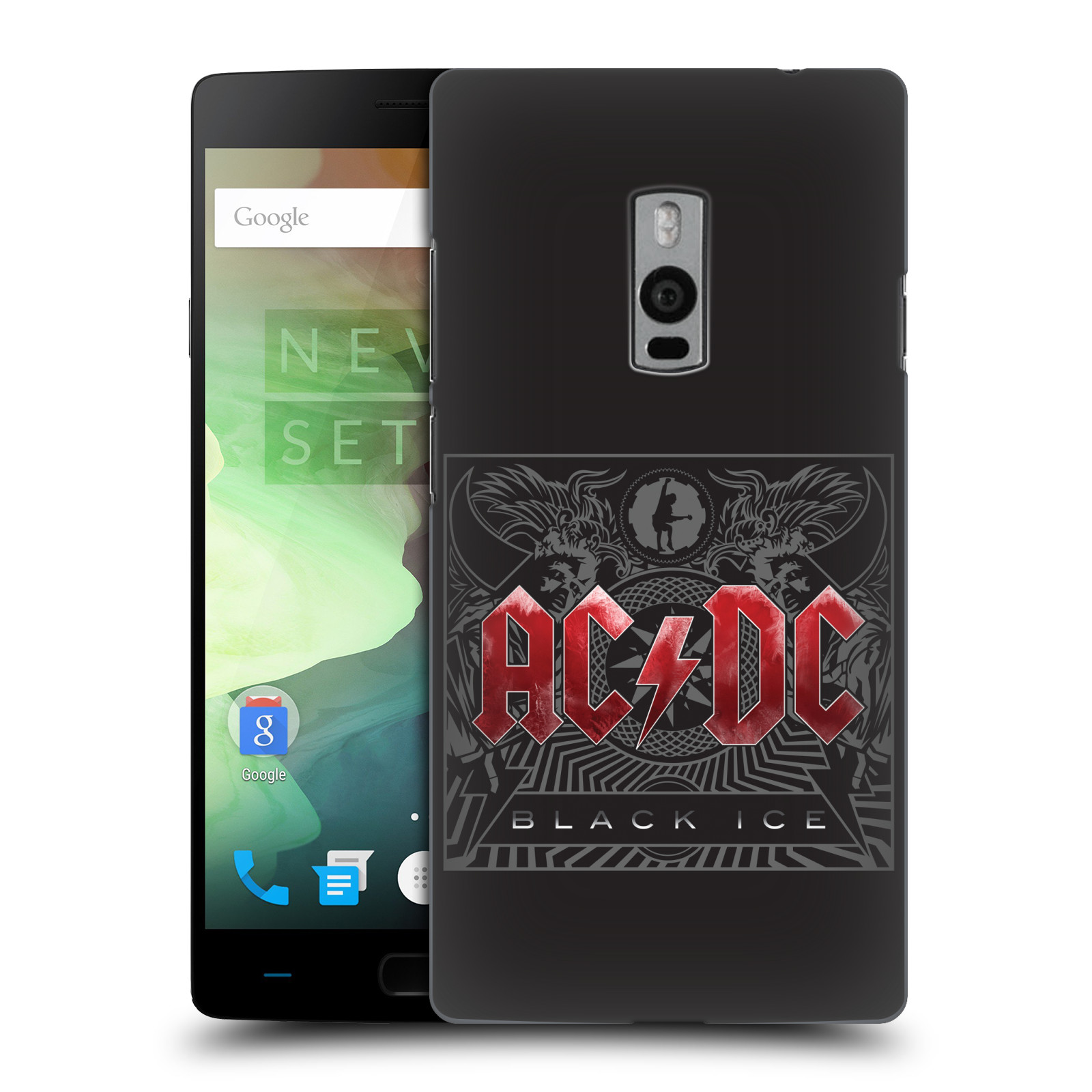 Plastové pouzdro na mobil OnePlus Two HEAD CASE AC/DC Black Ice (Plastový kryt či obal na mobilní telefon s oficiálním motivem australské skupiny AC/DC pro OnePlus Two)