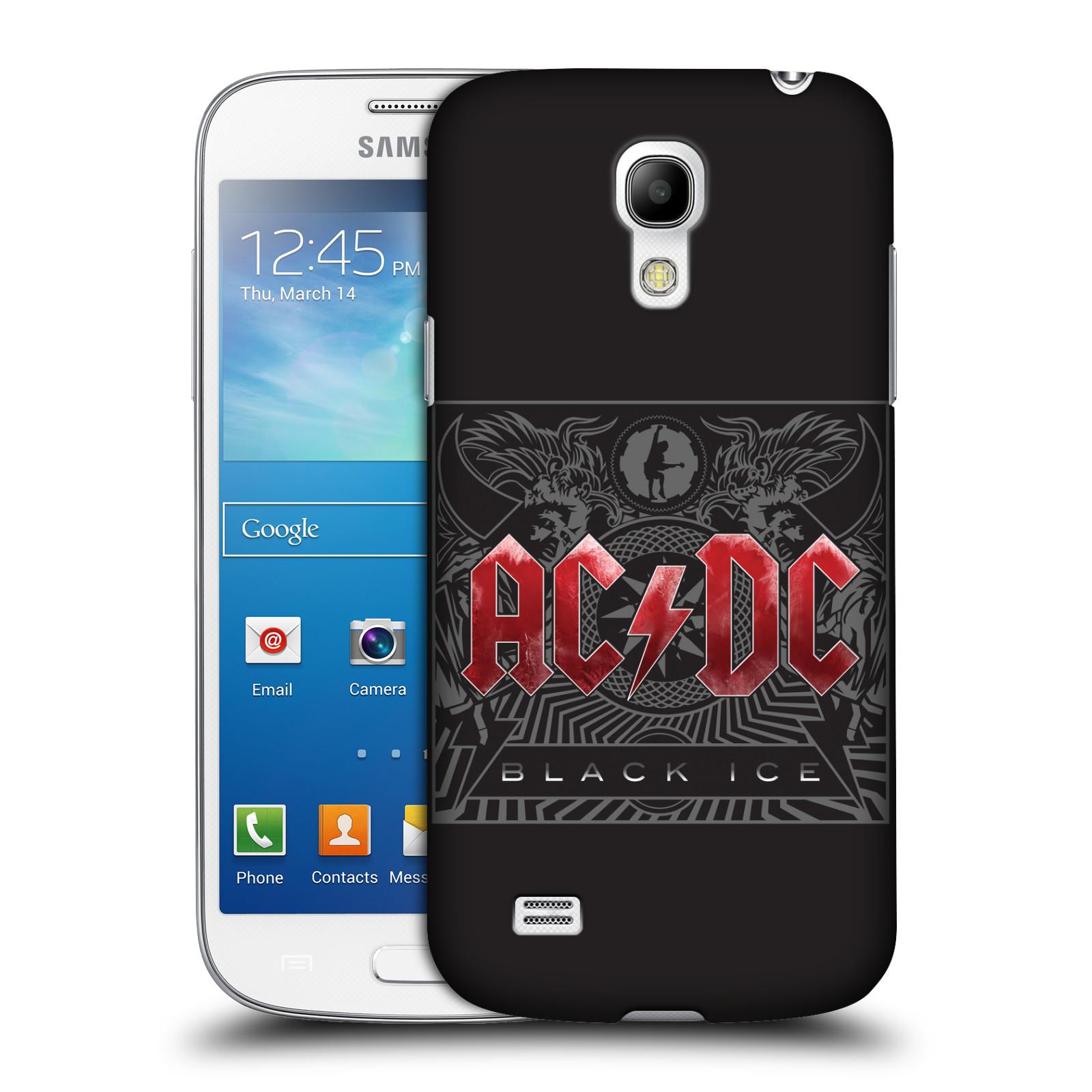 Plastové pouzdro na mobil Samsung Galaxy S4 Mini HEAD CASE AC/DC Black Ice (Plastový kryt či obal na mobilní telefon s oficiálním motivem australské skupiny AC/DC pro Samsung Galaxy S4 Mini GT-i9195 / i9190)