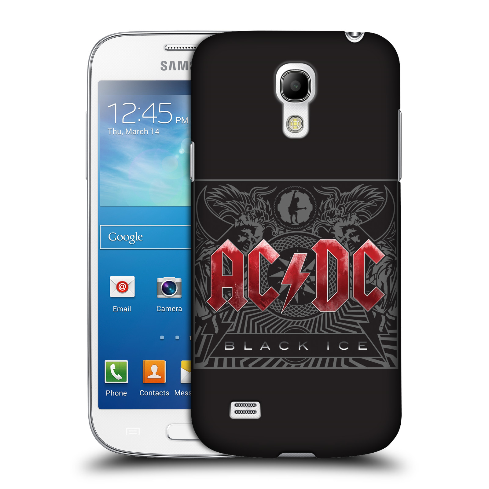 Plastové pouzdro na mobil Samsung Galaxy S4 Mini HEAD CASE AC/DC Black Ice