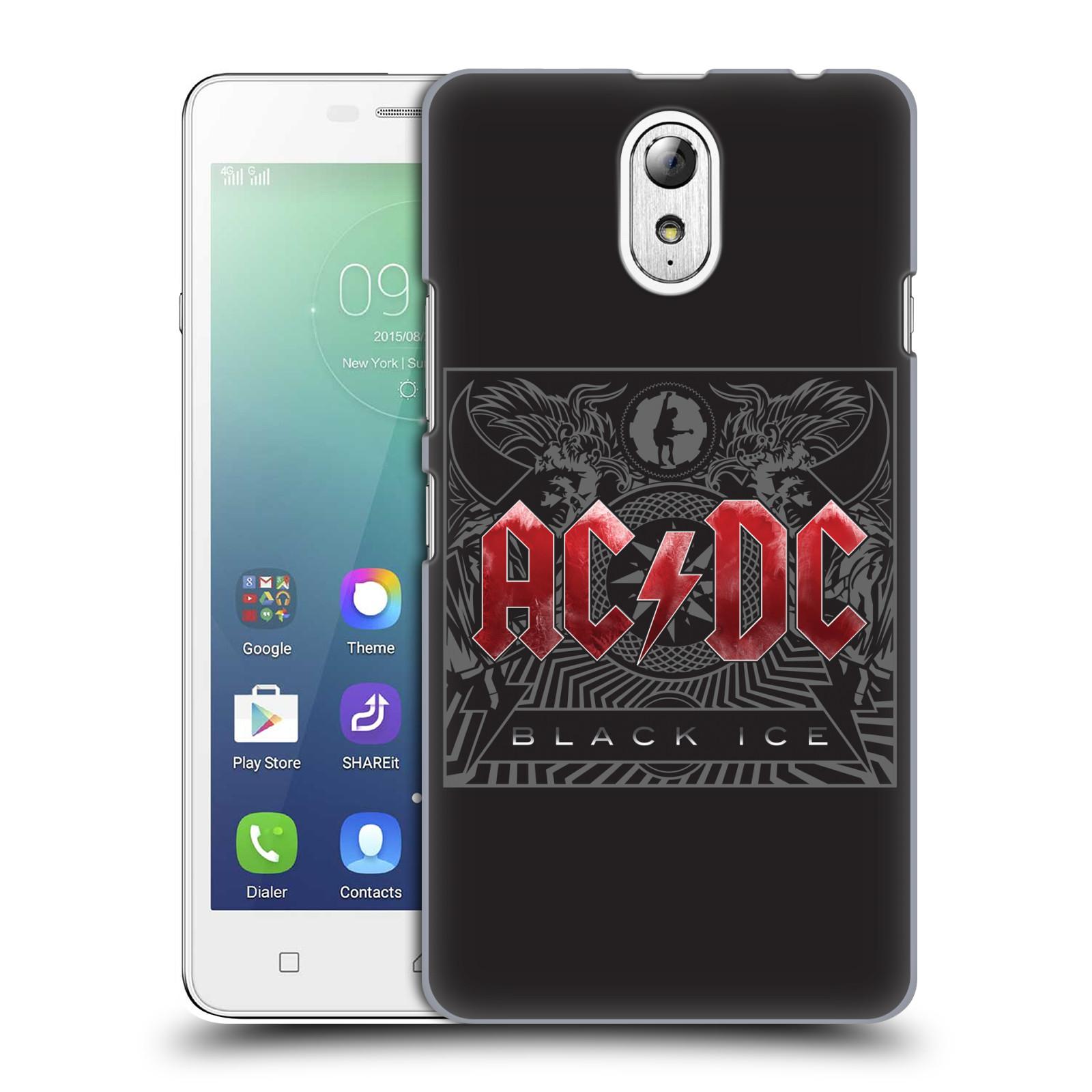 Plastové pouzdro na mobil Lenovo Vibe P1m HEAD CASE AC/DC Black Ice