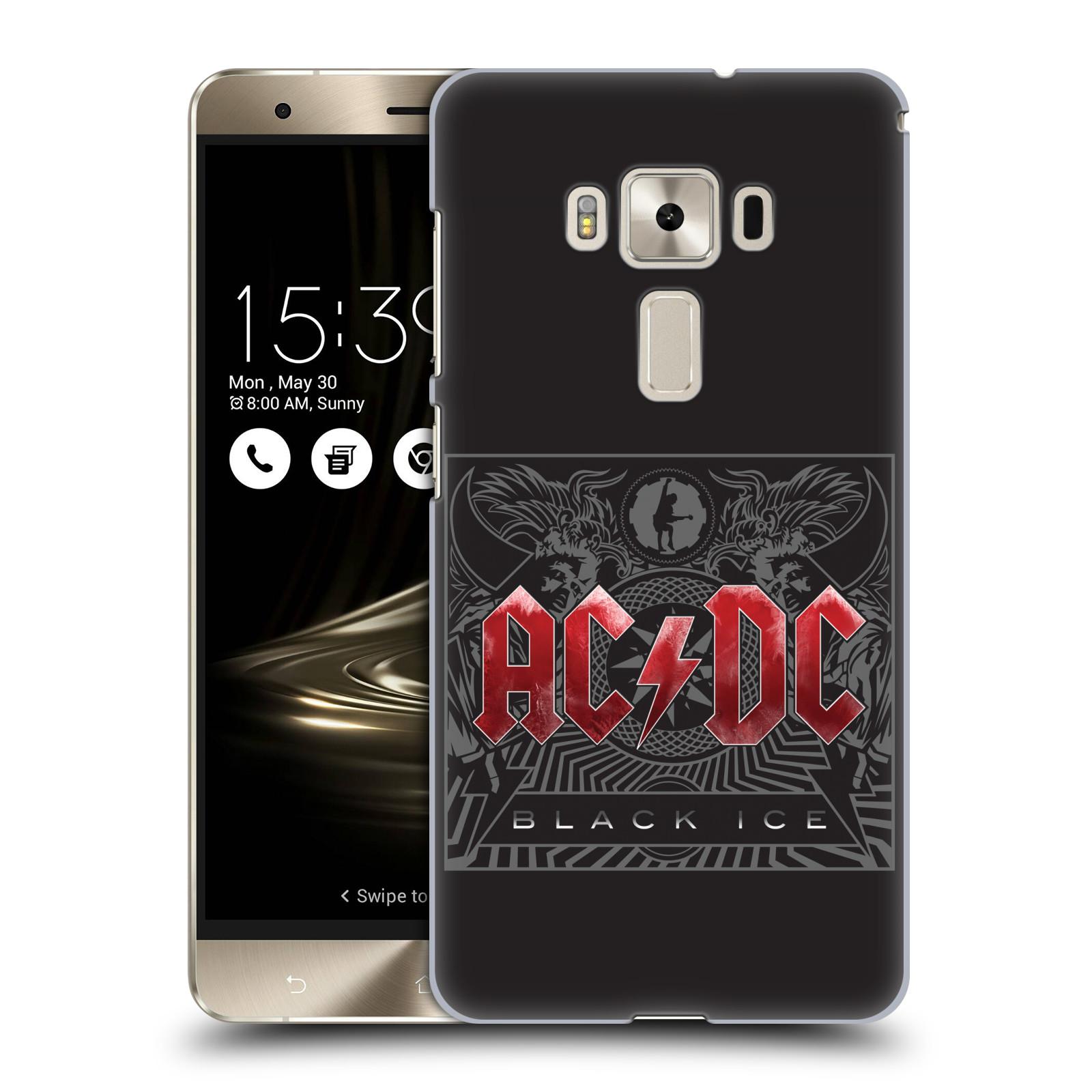 Plastové pouzdro na mobil Asus ZenFone 3 Deluxe ZS570KL HEAD CASE AC/DC Black Ice (Plastový kryt či obal na mobilní telefon s oficiálním motivem australské skupiny AC/DC pro Asus ZenFone 3 Deluxe ZS570KL)