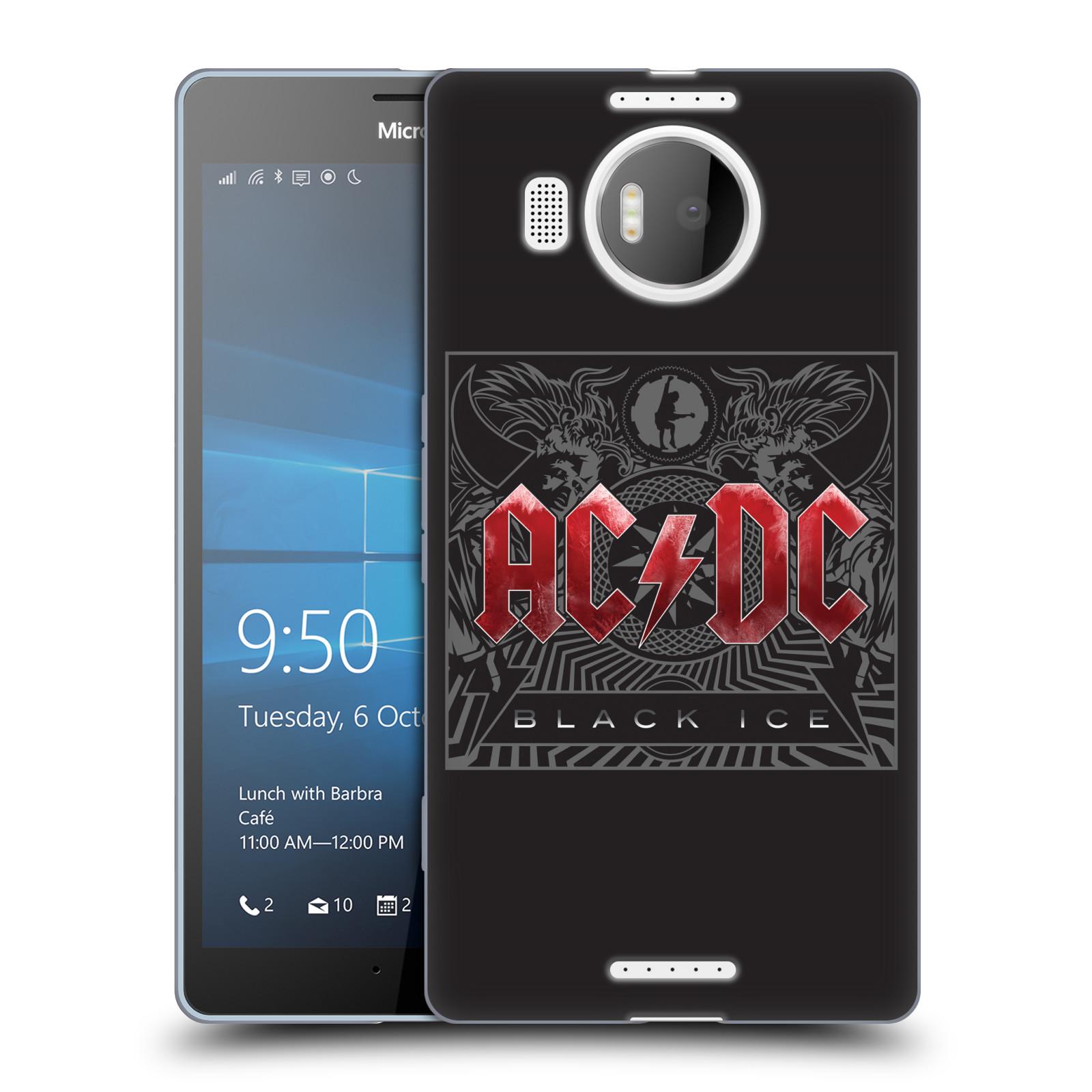 Silikonové pouzdro na mobil Microsoft Lumia 950 XL HEAD CASE AC/DC Black Ice