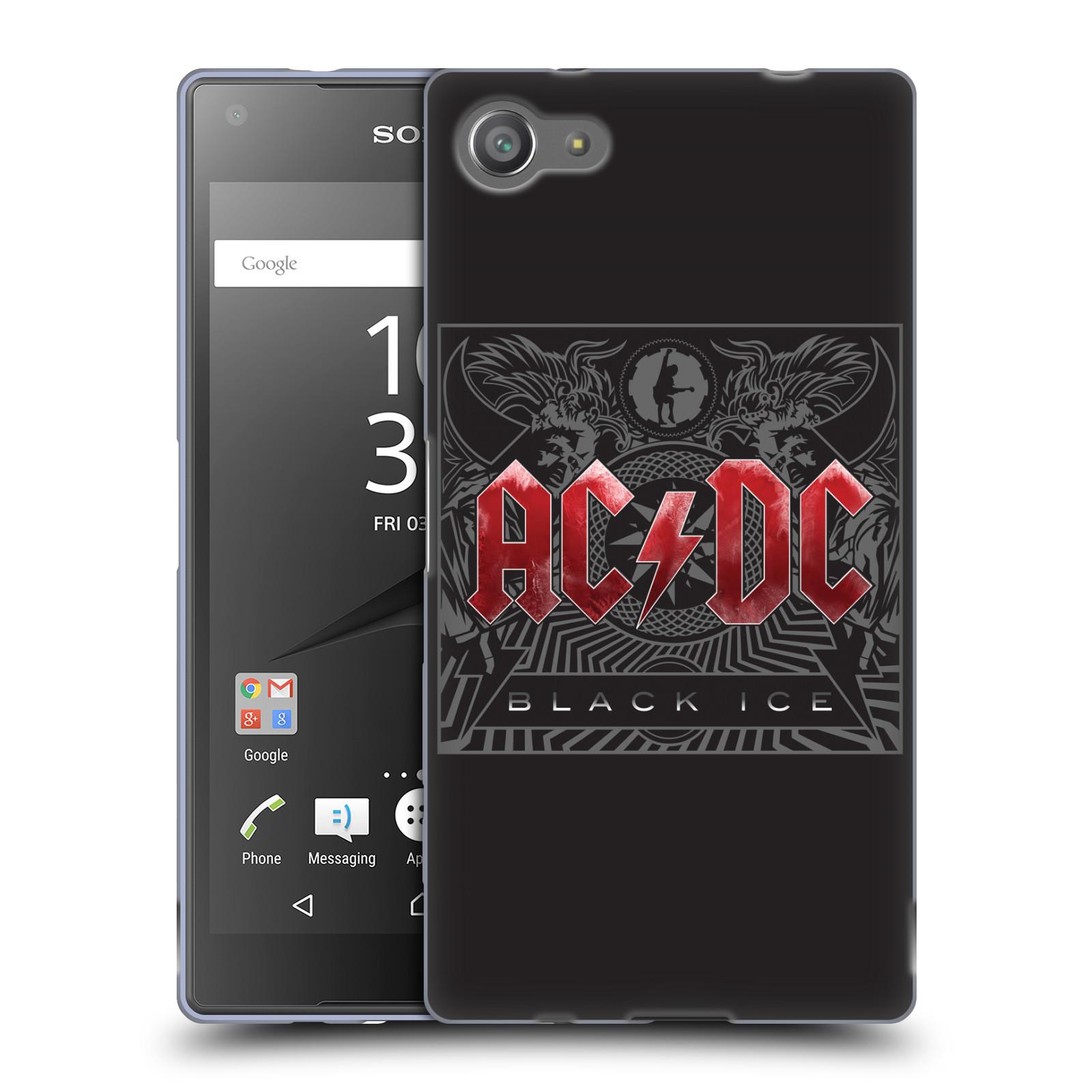 Silikonové pouzdro na mobil Sony Xperia Z5 Compact HEAD CASE AC/DC Black Ice