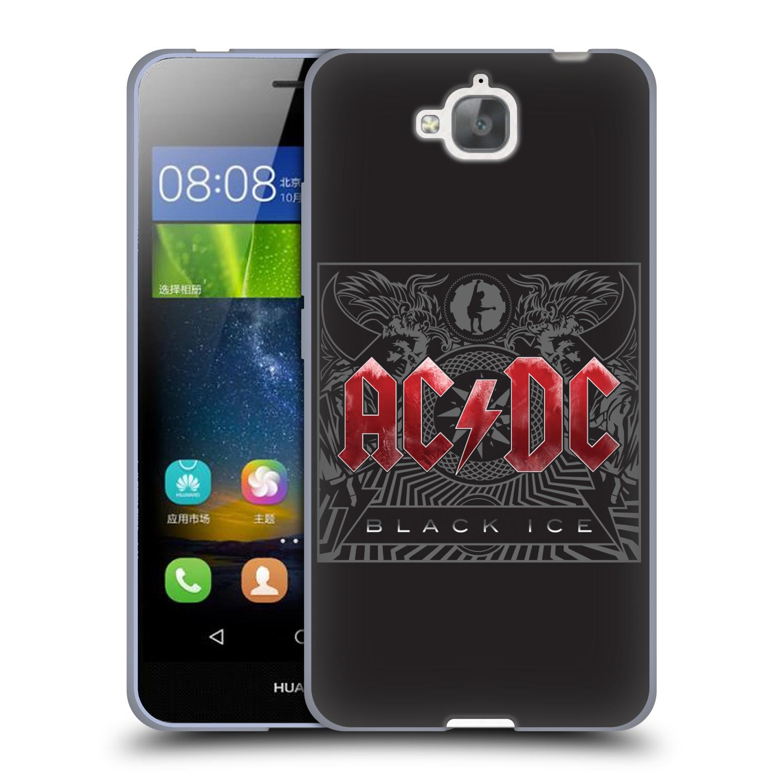 Silikonové pouzdro na mobil Huawei Y6 Pro Dual Sim HEAD CASE AC/DC Black Ice