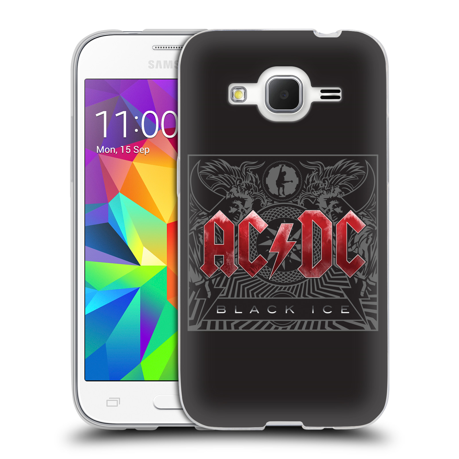 Silikonové pouzdro na mobil Samsung Galaxy Core Prime VE HEAD CASE AC/DC Black Ice